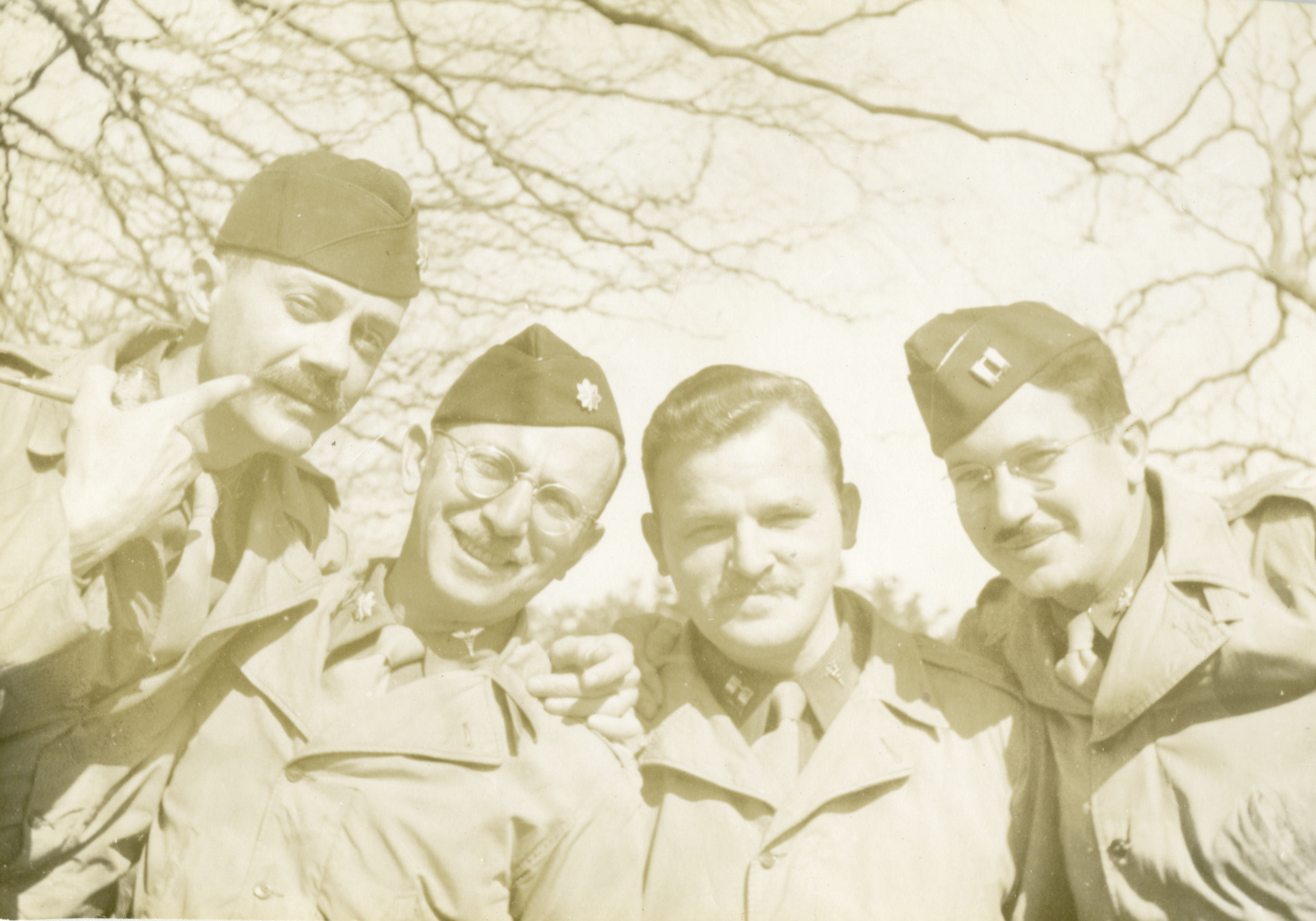 WWII soldiers showing off their mustaches
