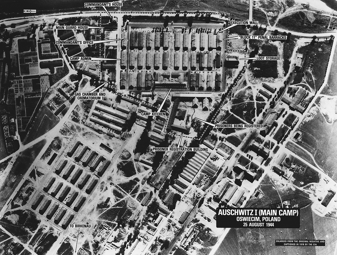 Aerial View of Auschwitz-Birkenau