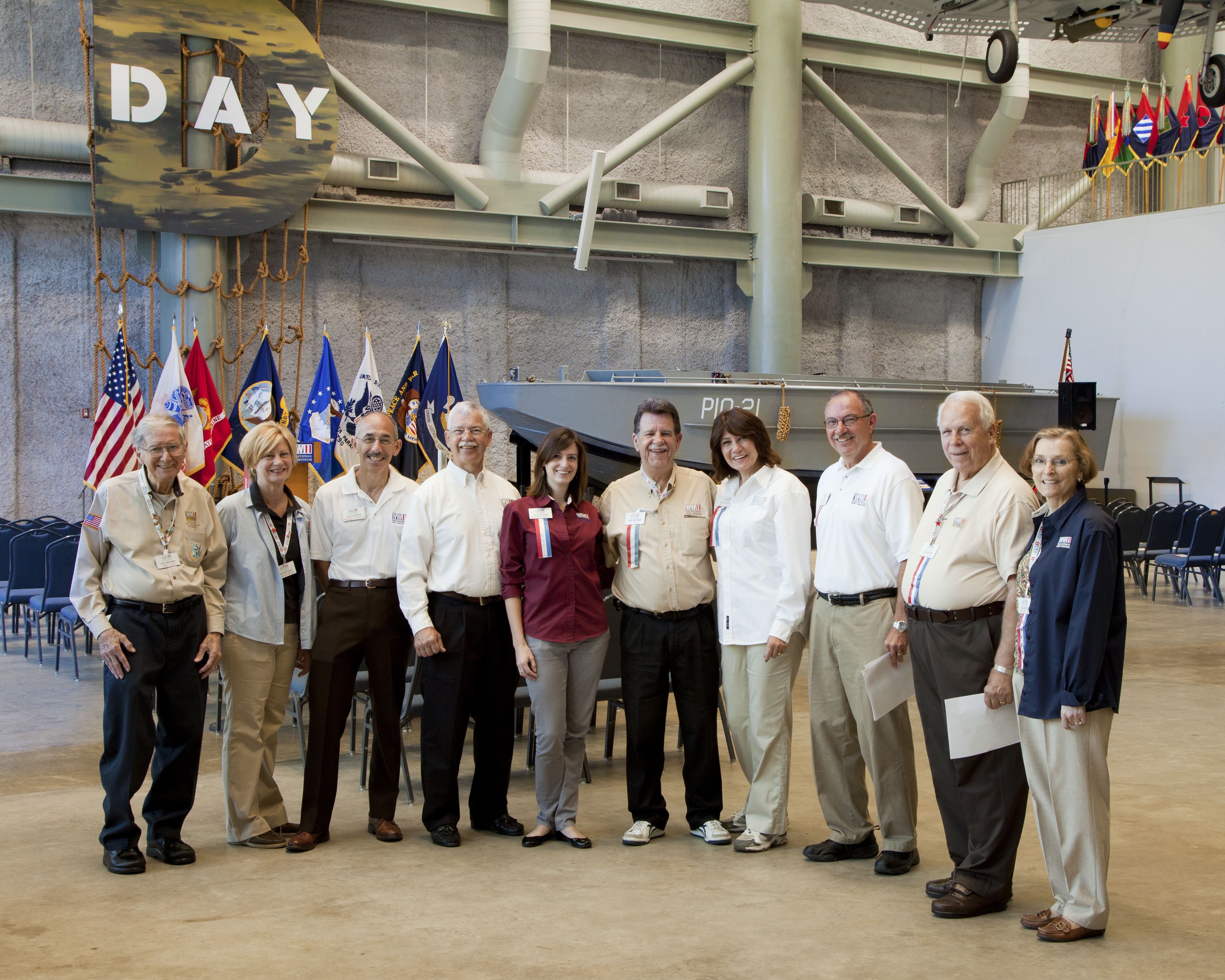 Volunteer staff at The National WWII Museum