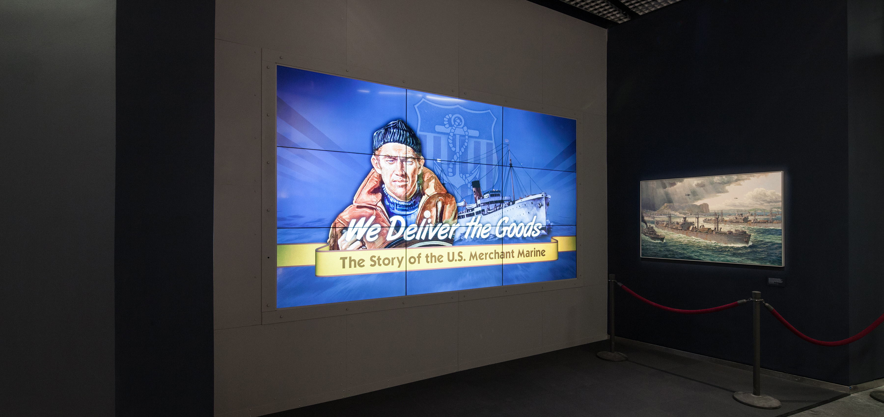 US Merchant Marine gallery video wall