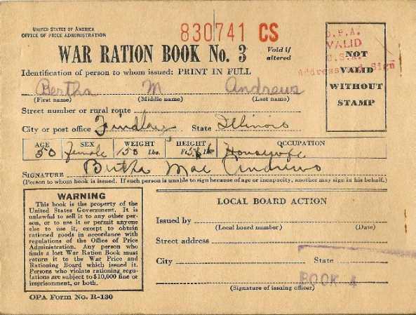 image relating to Ration Book Ww2 Printable known as Ration Textbooks The Countrywide WWII Museum Fresh Orleans