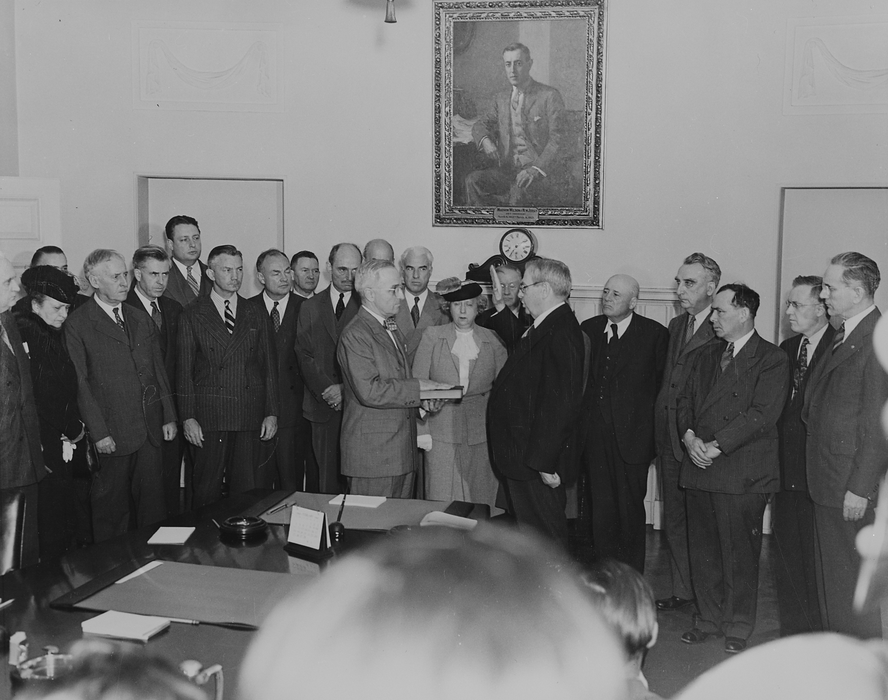 Truman Taking the Oath of Office