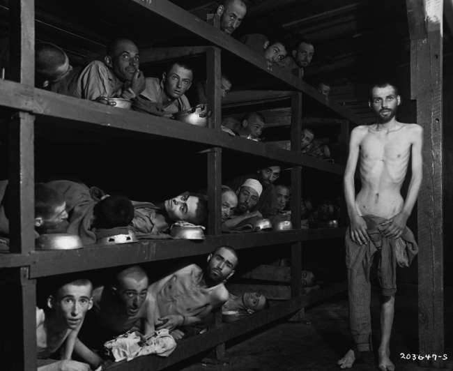 A concentration camp during the Holocaust