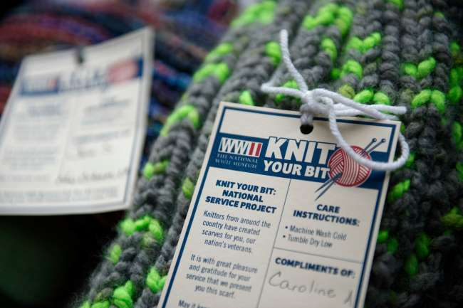 Knit Your Bit scarf