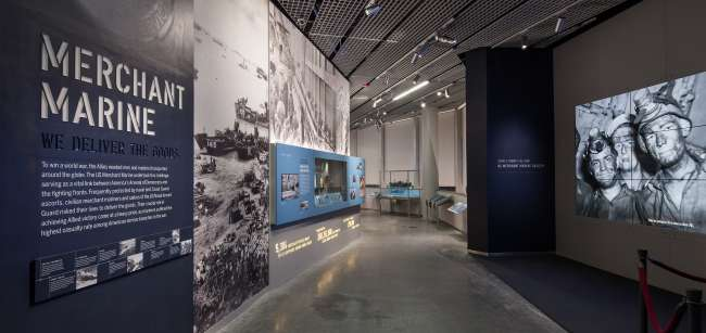 US Merchant Marine gallery entrance