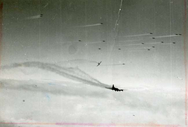 American B-17 as it goes down
