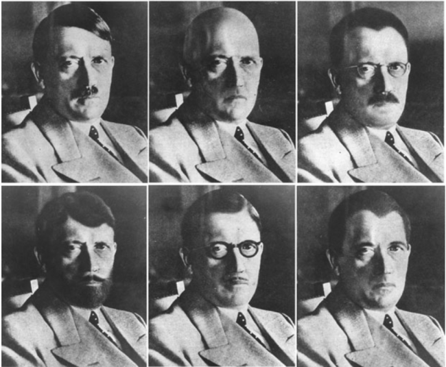 Retouched photographs of Hitler created by Eddie Senz