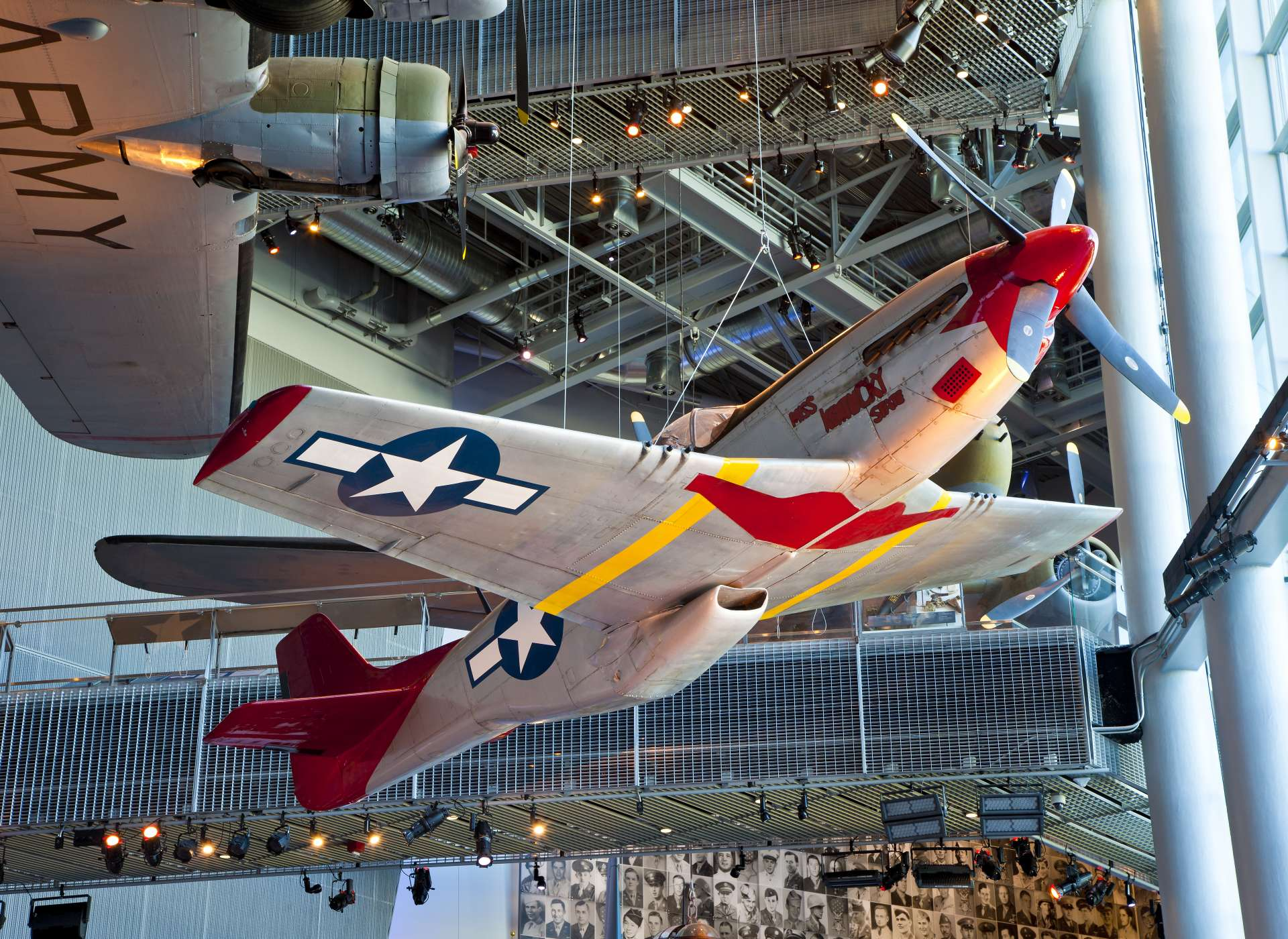 P-51 Red Tail aircraft in US Freedom Pavilion