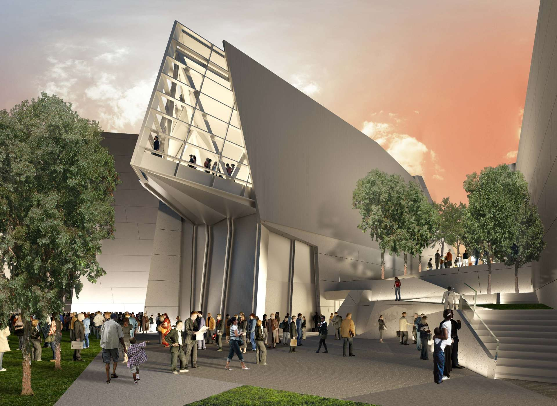 Rendering of Liberation Pavilion