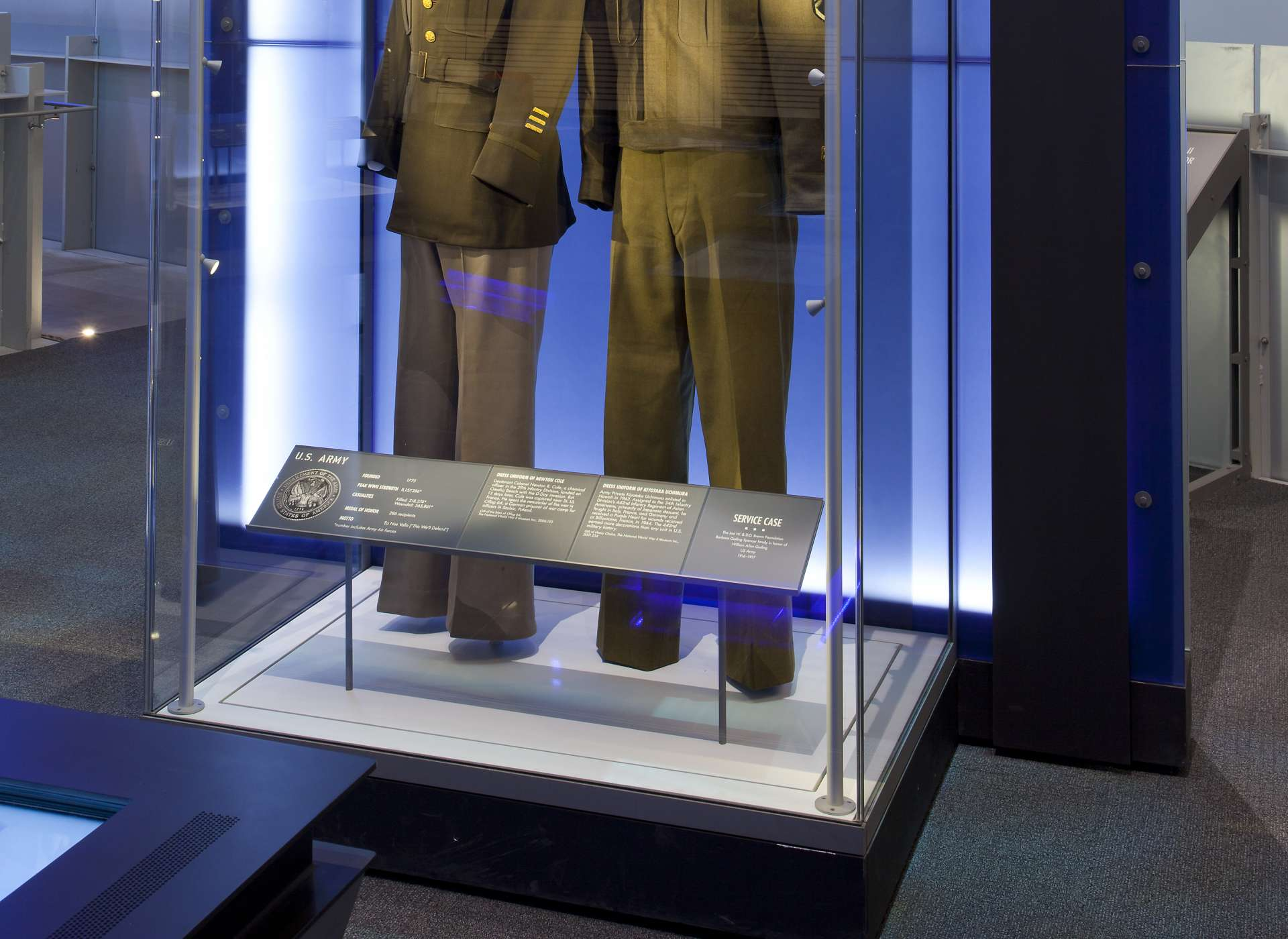 Laborde Services Gallery, US Freedom Pavilion, Army uniforms