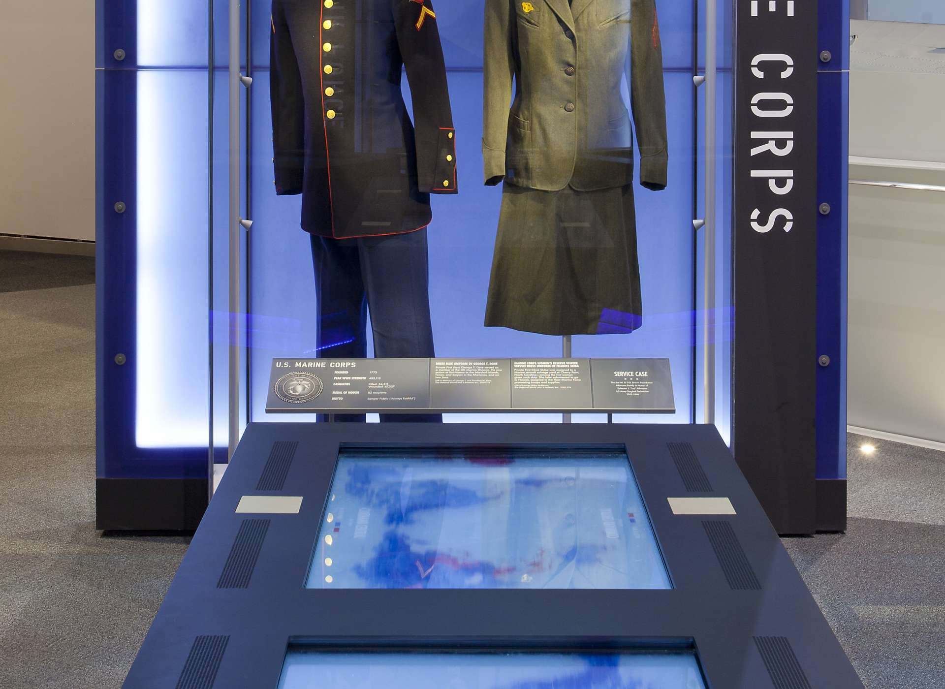 Laborde Services Gallery, US Freedom Pavilion, Marine uniforms