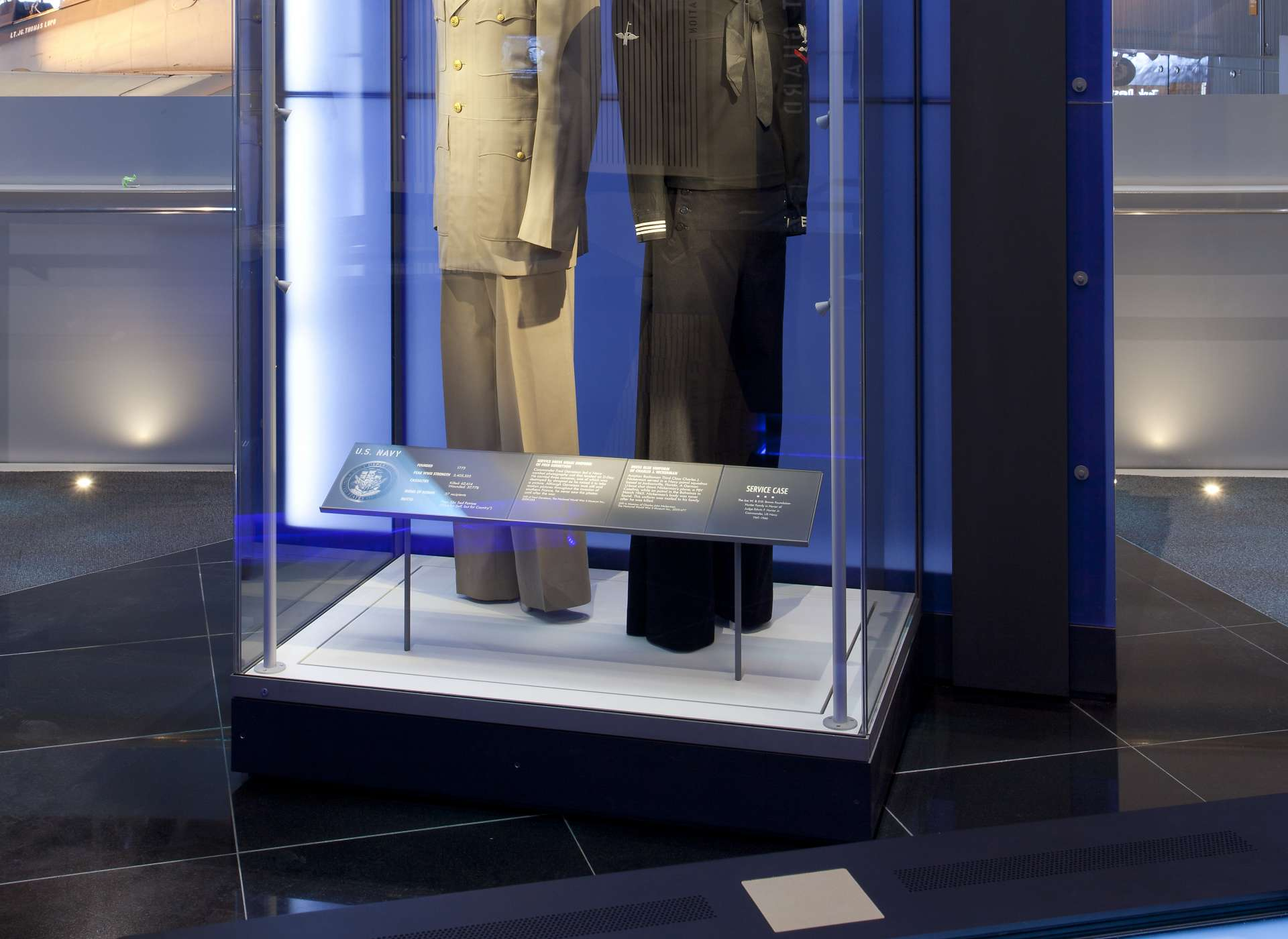Laborde Services Gallery, US Freedom Pavilion, Navy uniforms