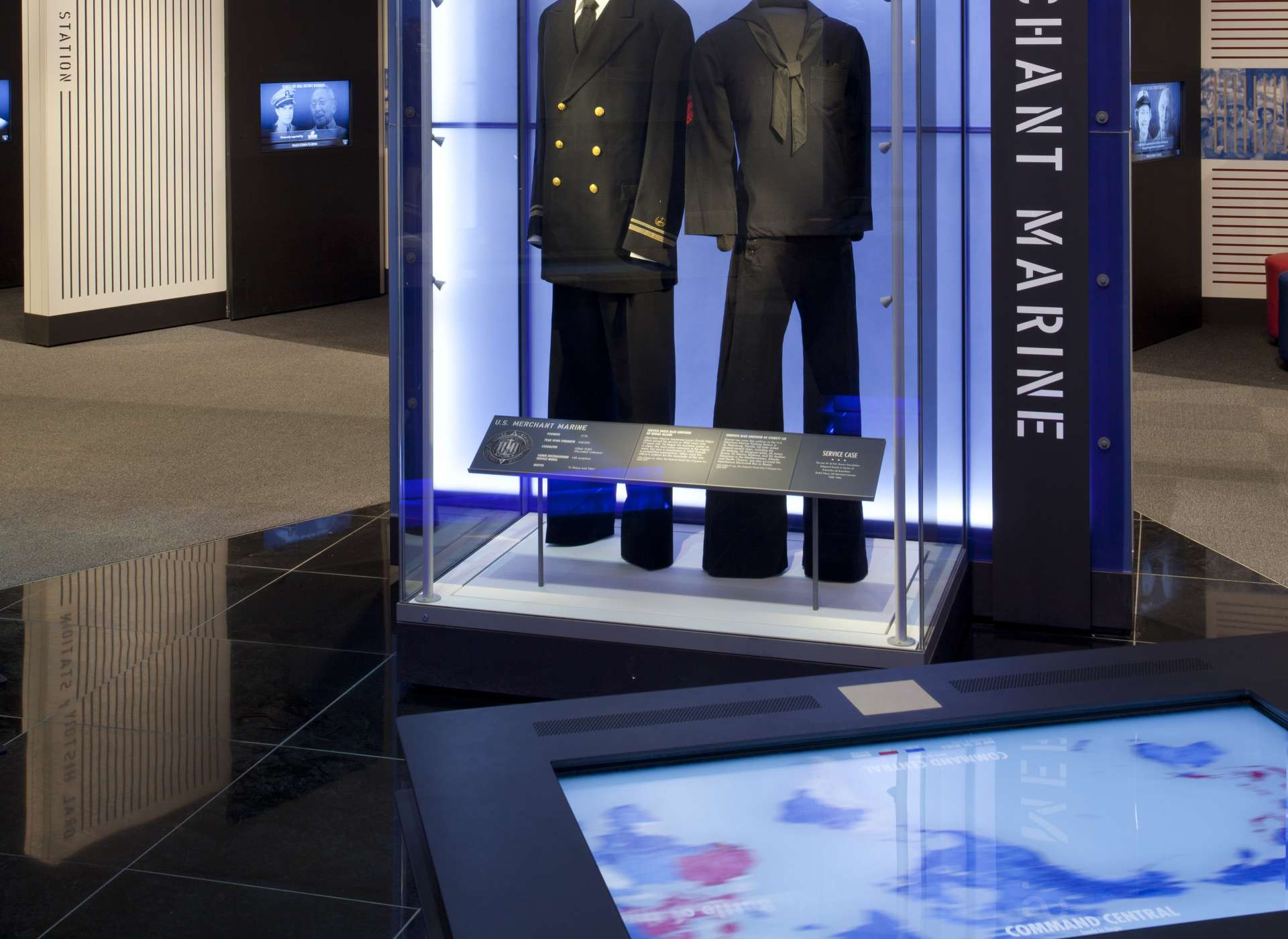 Laborde Services Gallery, US Freedom Pavilion, Merchant Marine uniforms