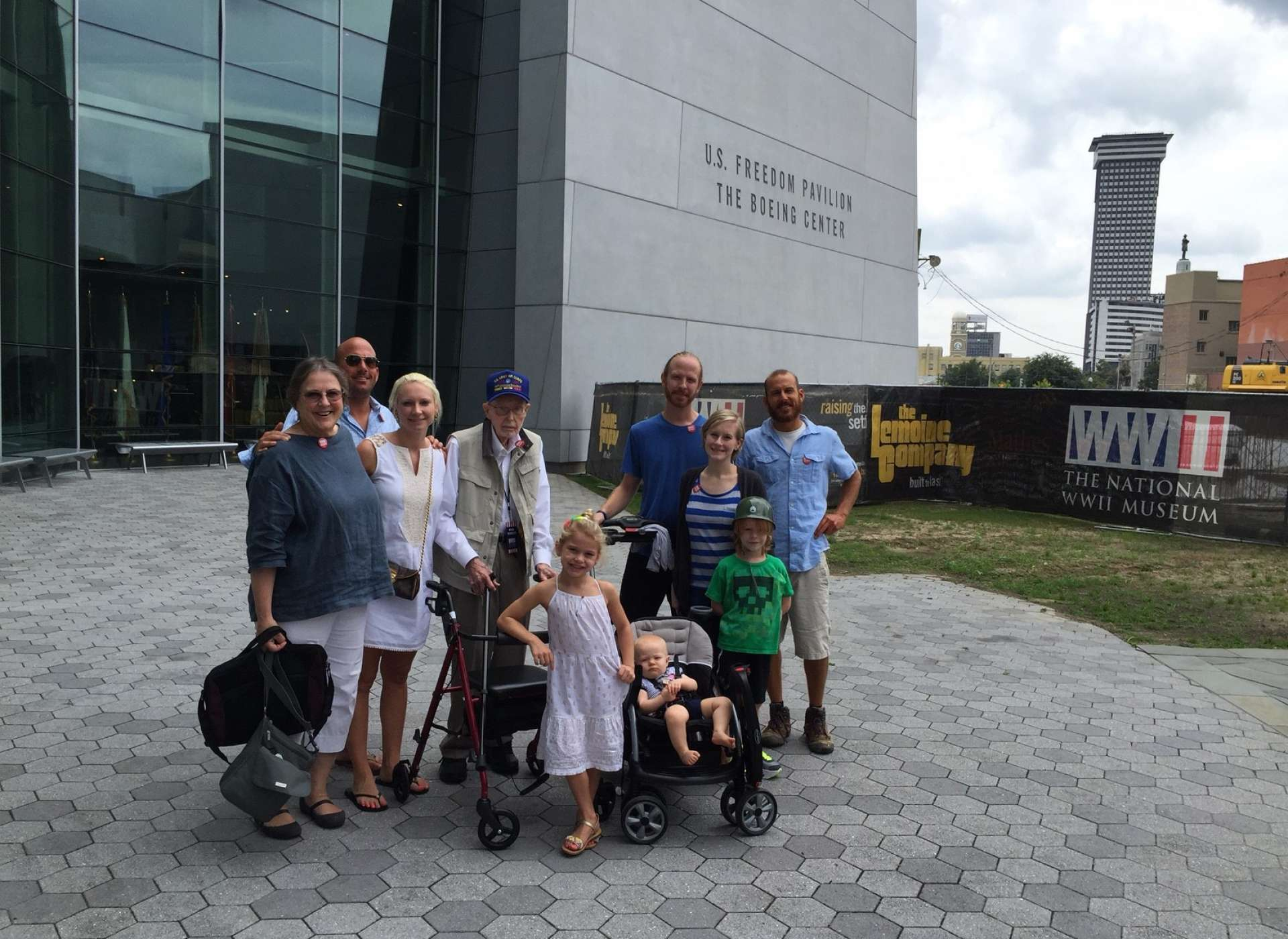 Patriots Circle member family at US Freedom Pavilion