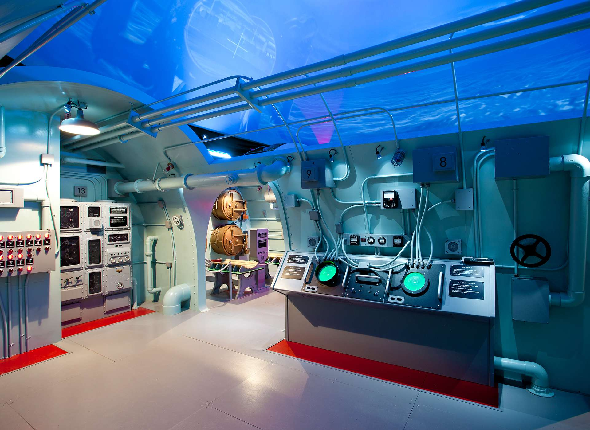 Interior station in Final Mission: USS Tang Submarine Experience