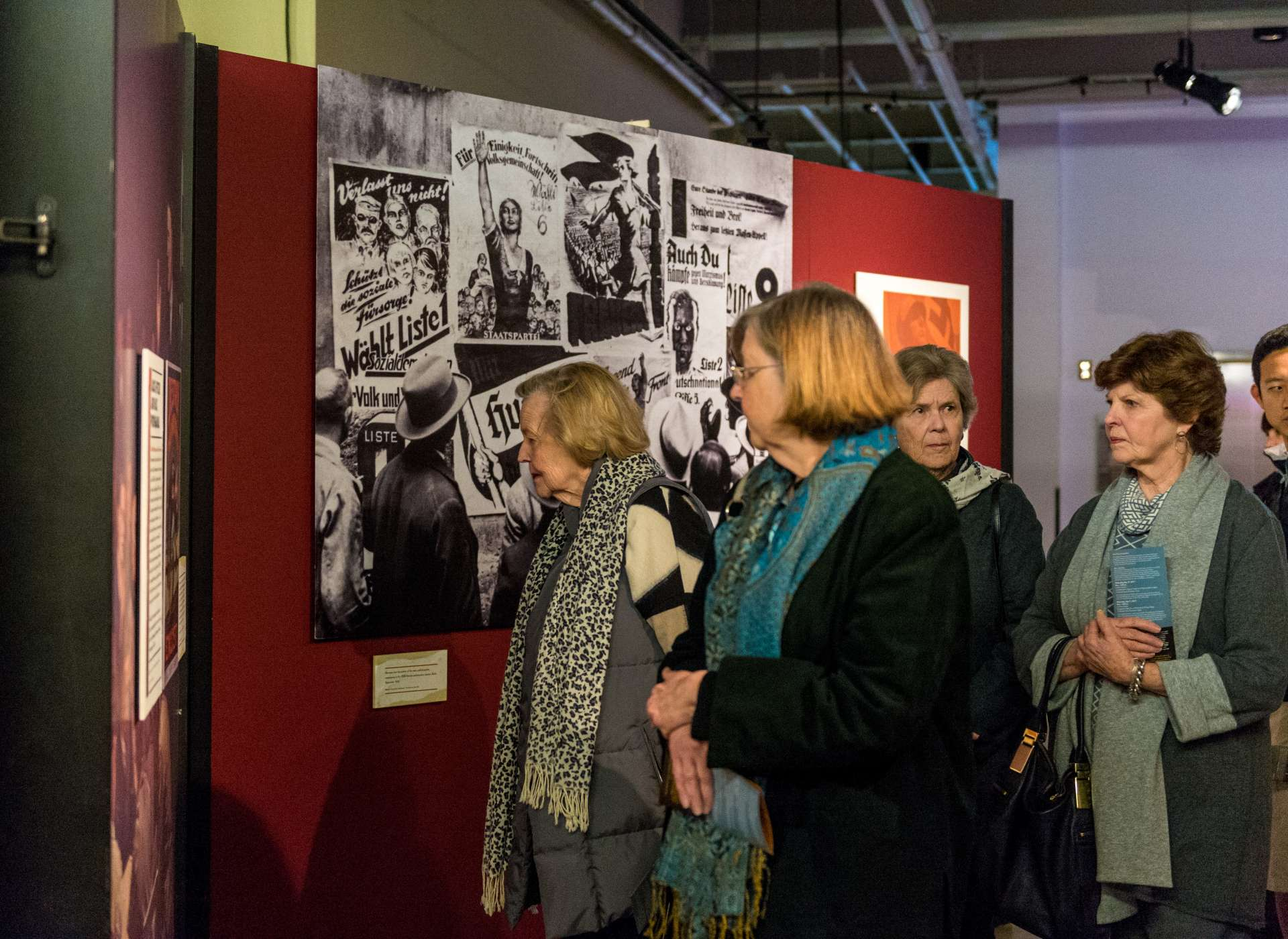 Group visits State of Deception exhibit