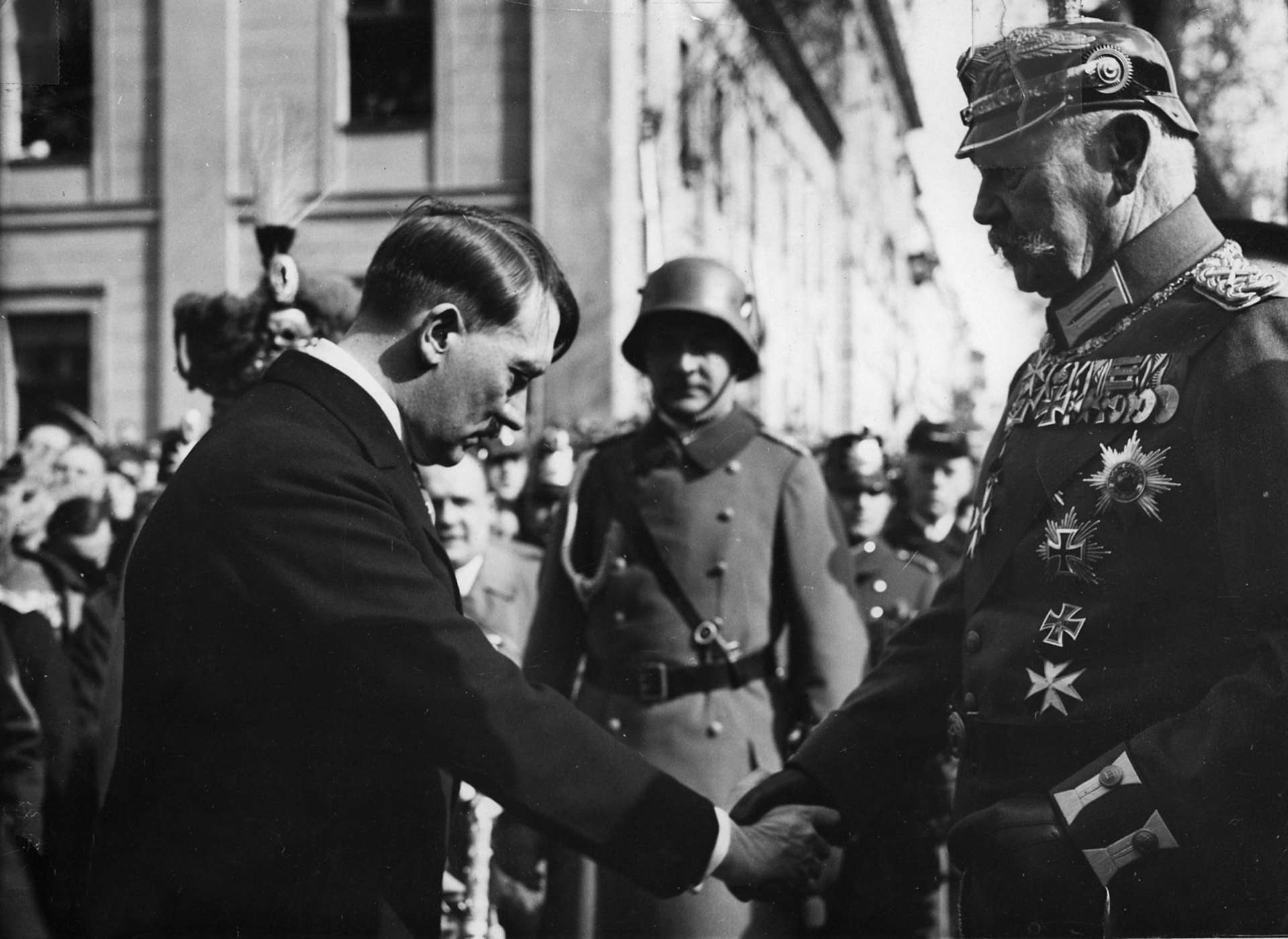 Hitler and the kaiser, WWII-era