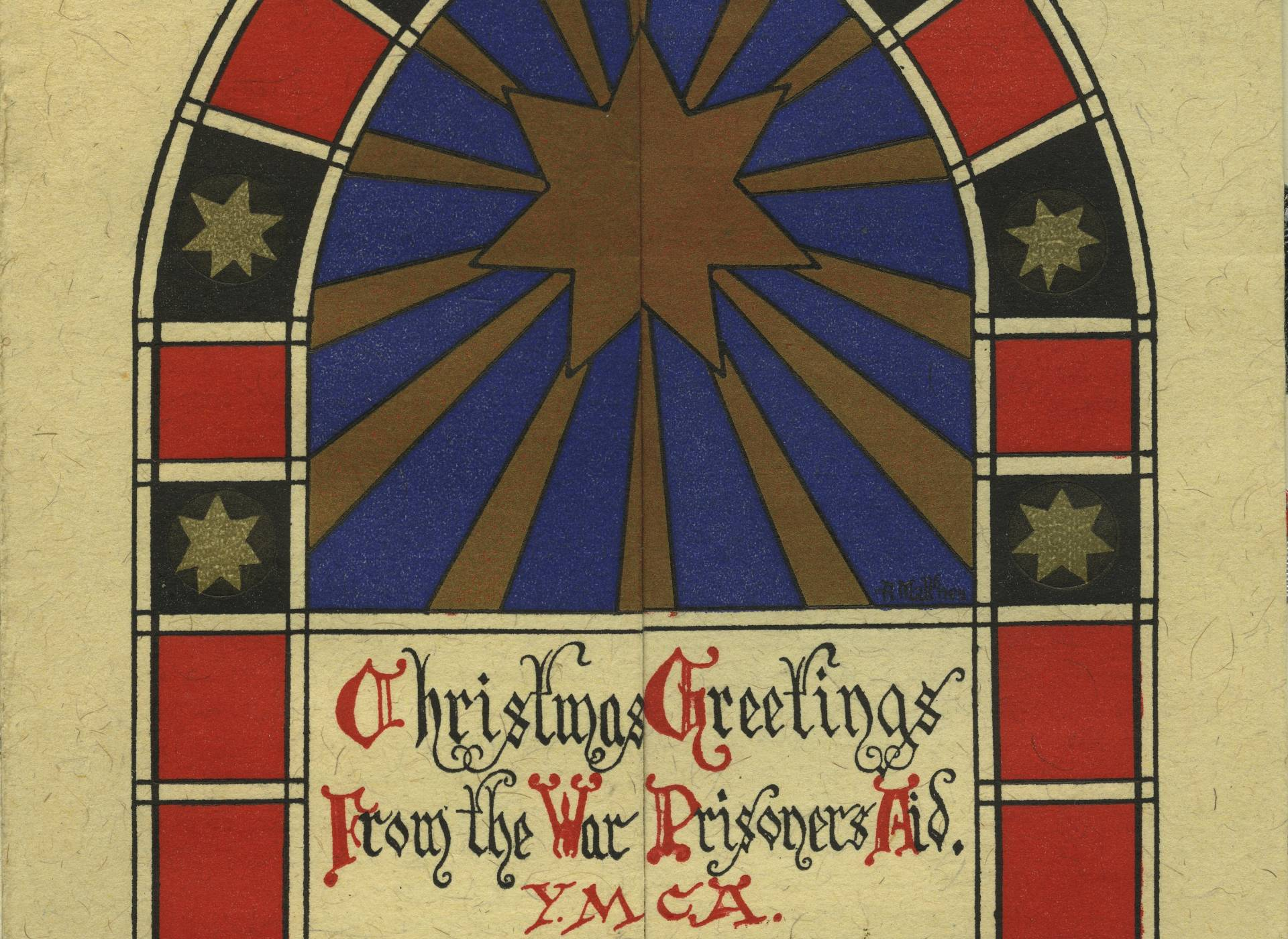Christmas Card from the War Prisoners Aid of the YMCA