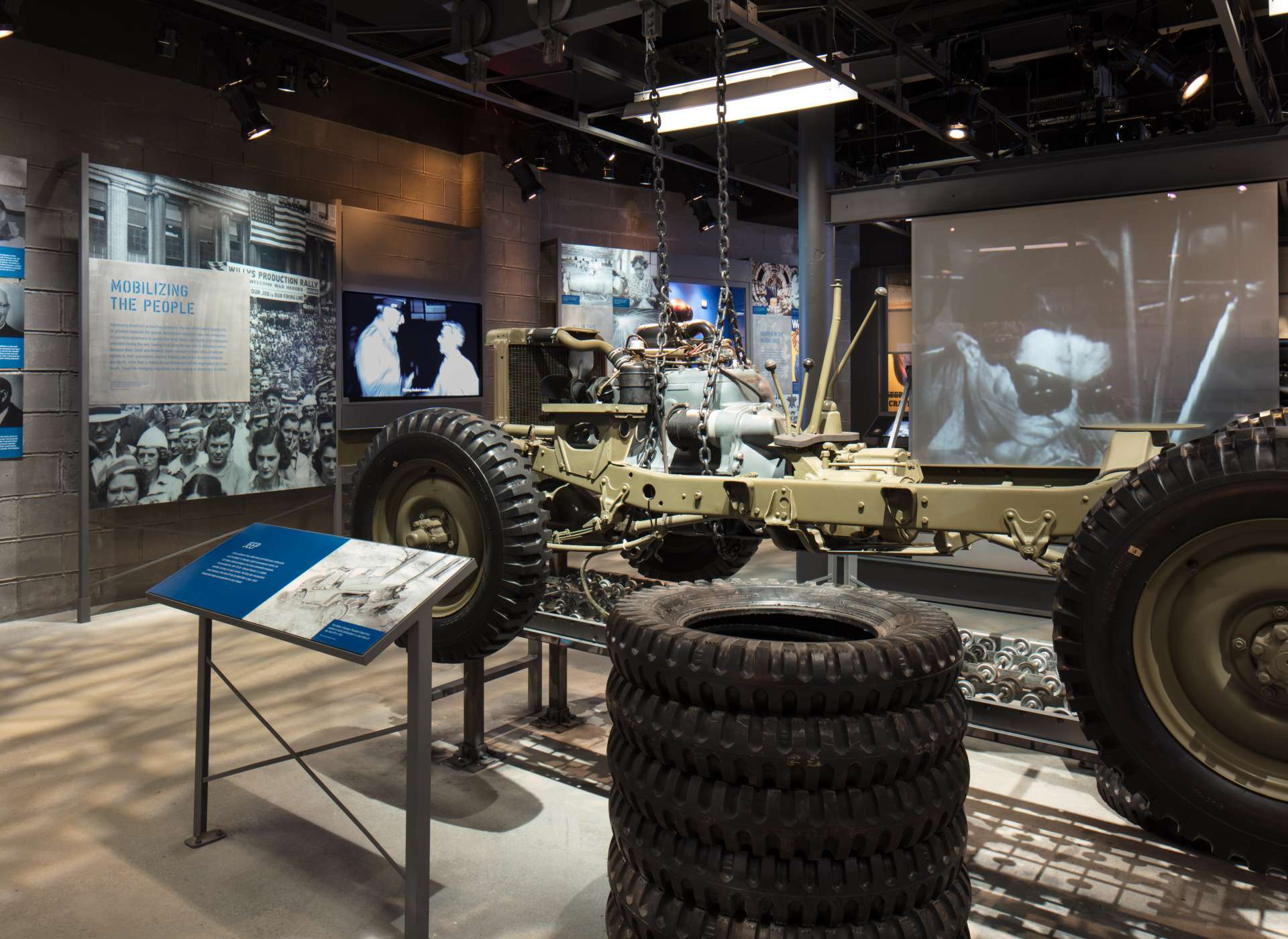 Louisiana Memorial Pavilion, Arsenal of Democracy gallery with Jeep