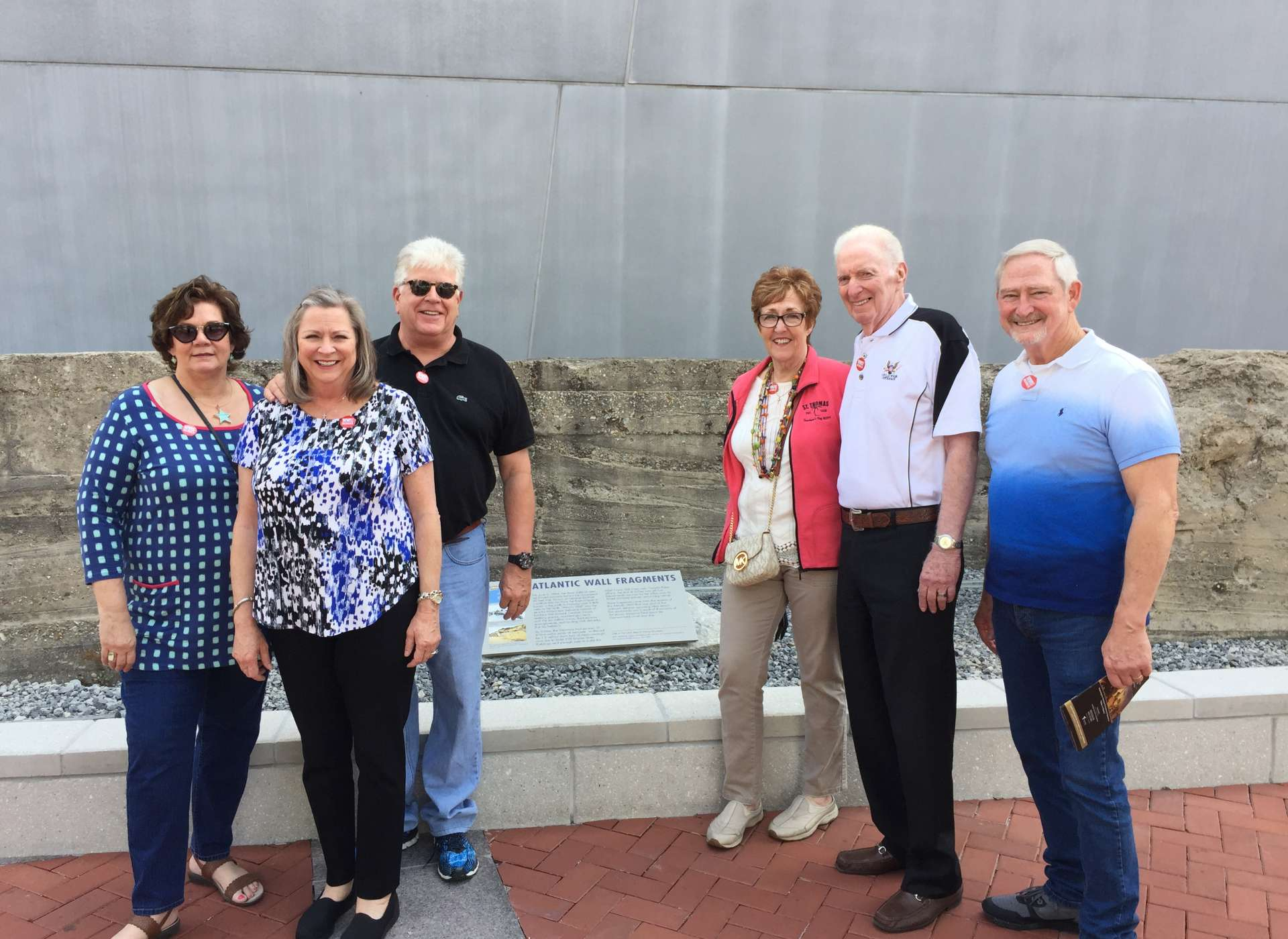 Patriots Circle members at Atlantic Wall