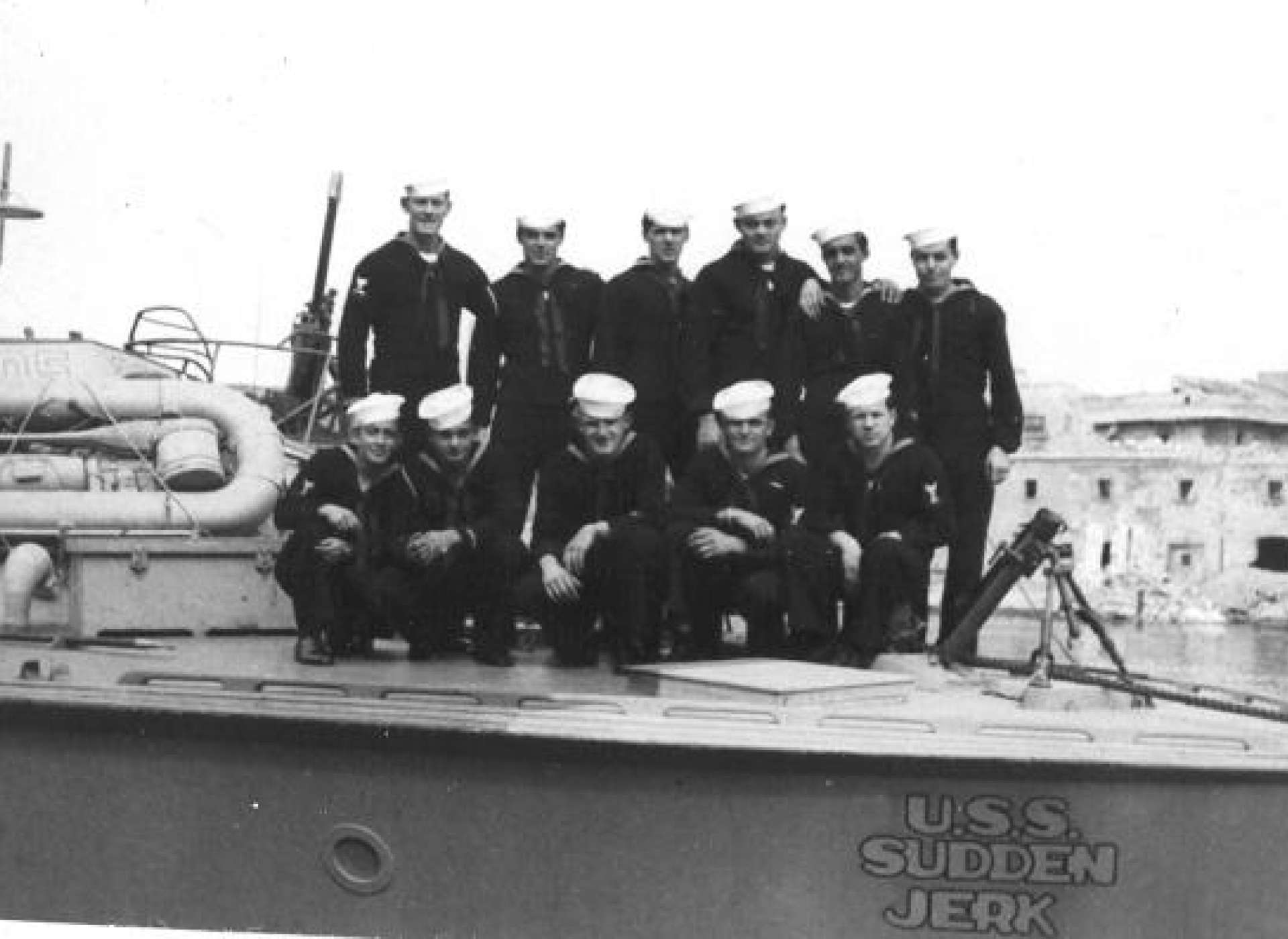 PT-305: A service-era photo showing one of the custom portholes.