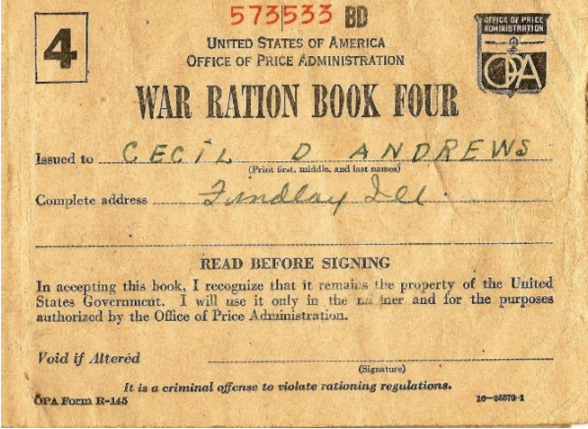 image relating to Ration Book Ww2 Printable titled Ration Guides The Countrywide WWII Museum Clean Orleans