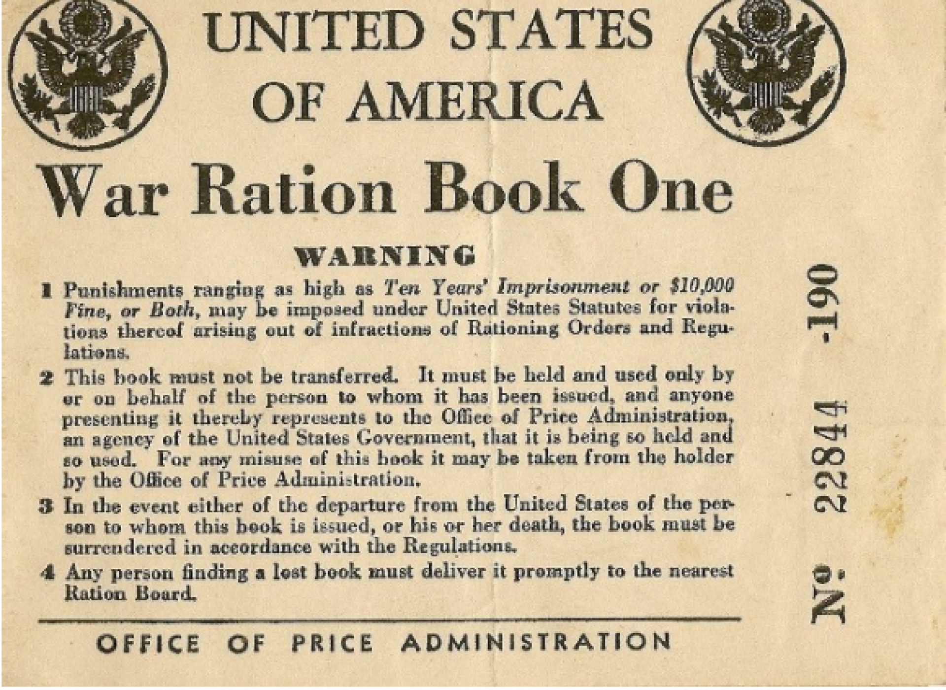 Image result for images US ration book