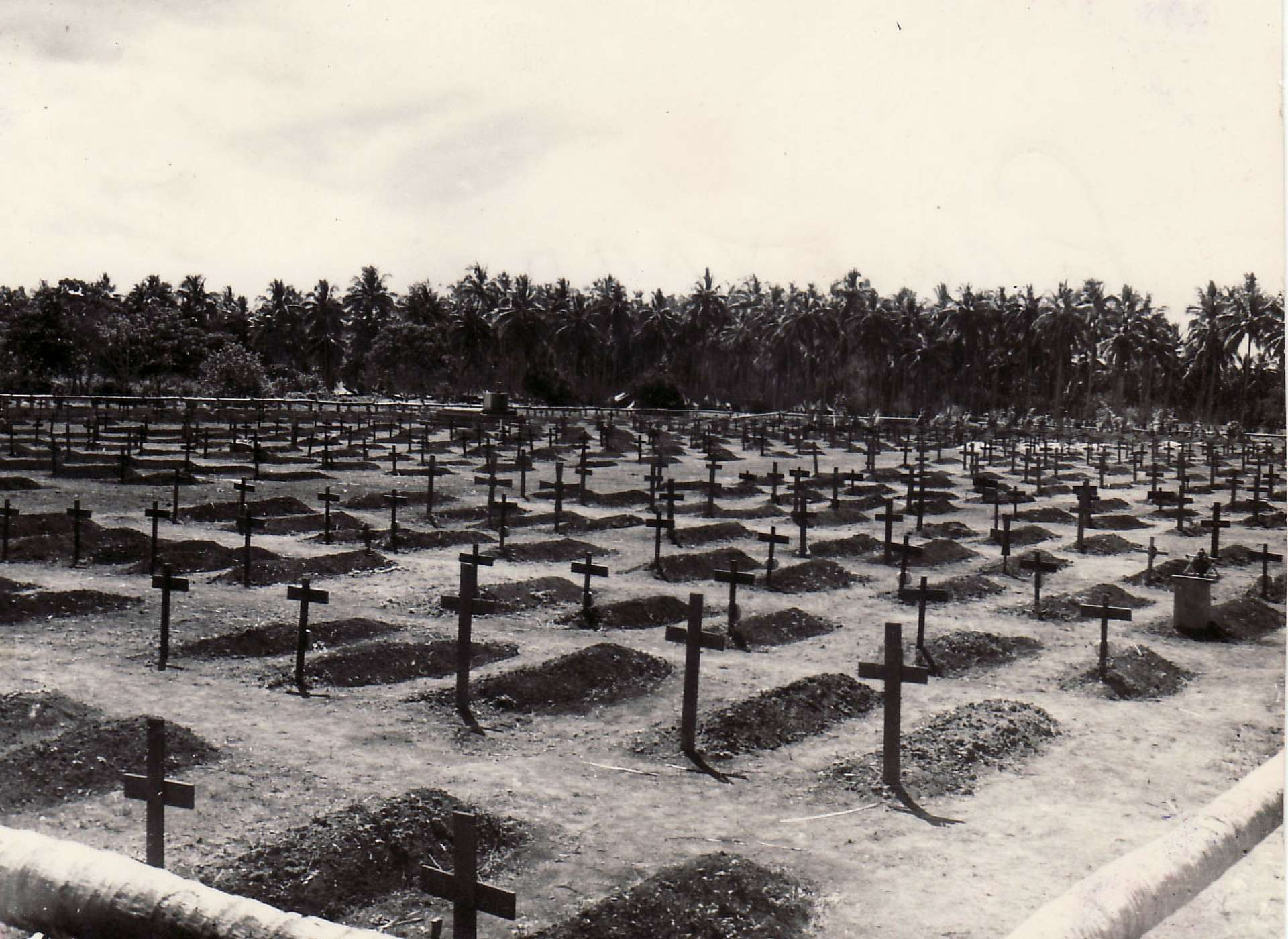 Marine cemetery on Guadalcanal.