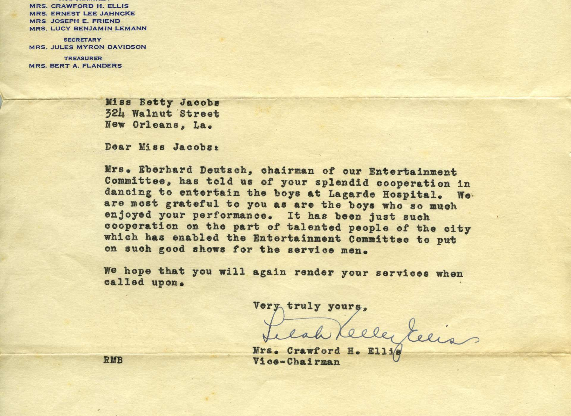 betty jacobs letter