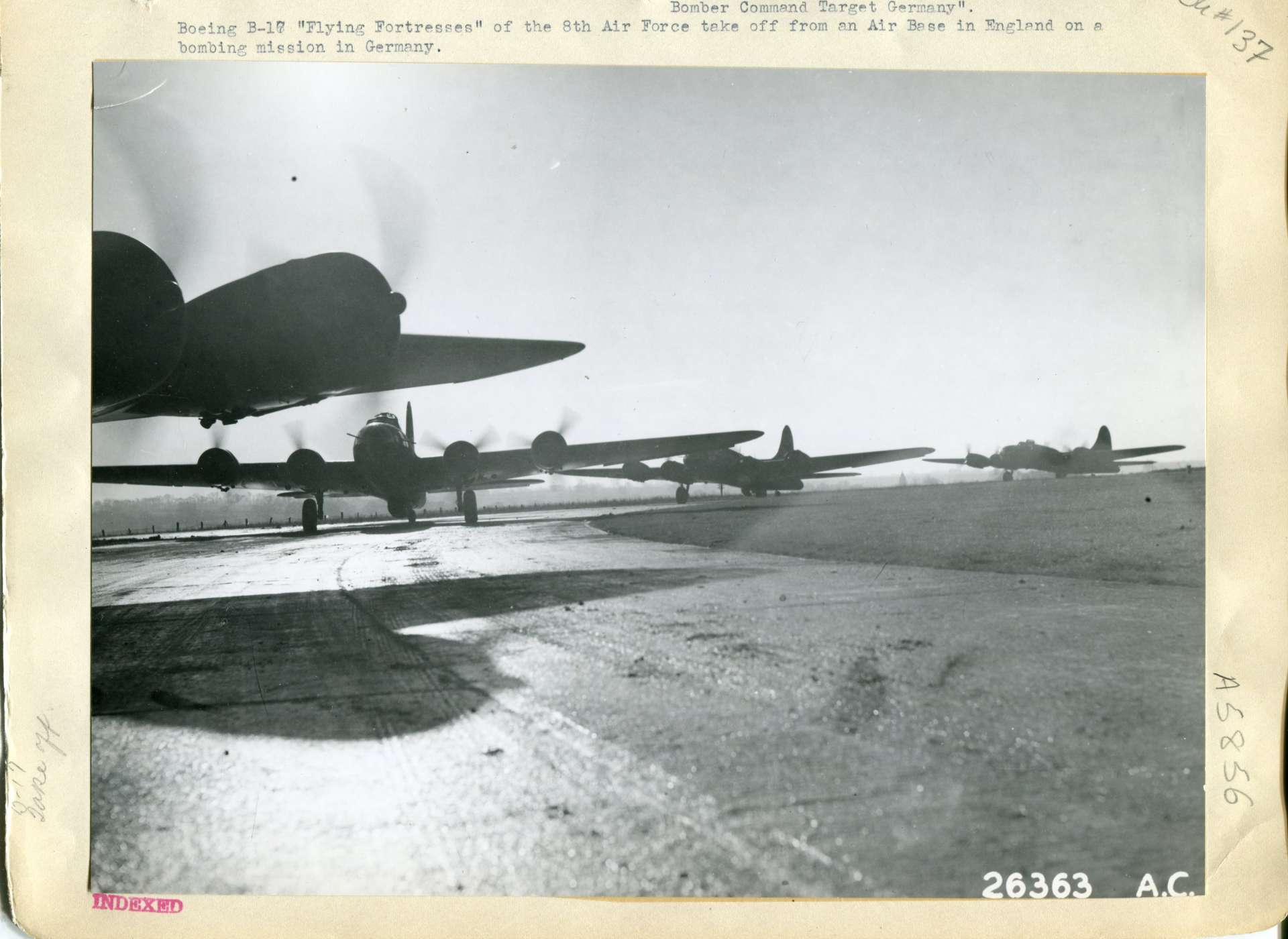 B-17 taxing on the runway