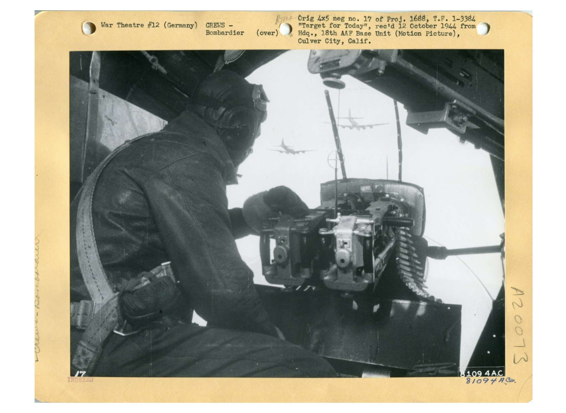 bombardier on B-17F