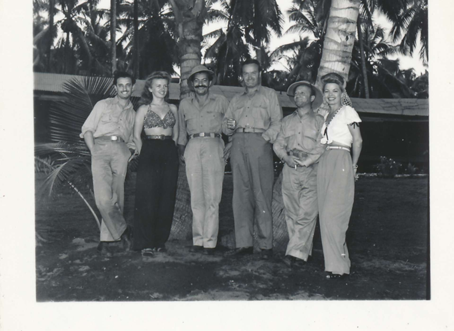 Hope and troupe on Guadalcanal in 1944