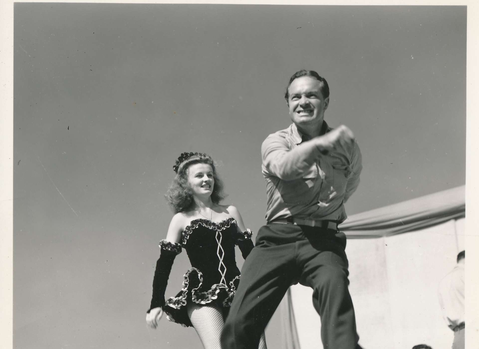Bob Hope performing with Patty Thomas