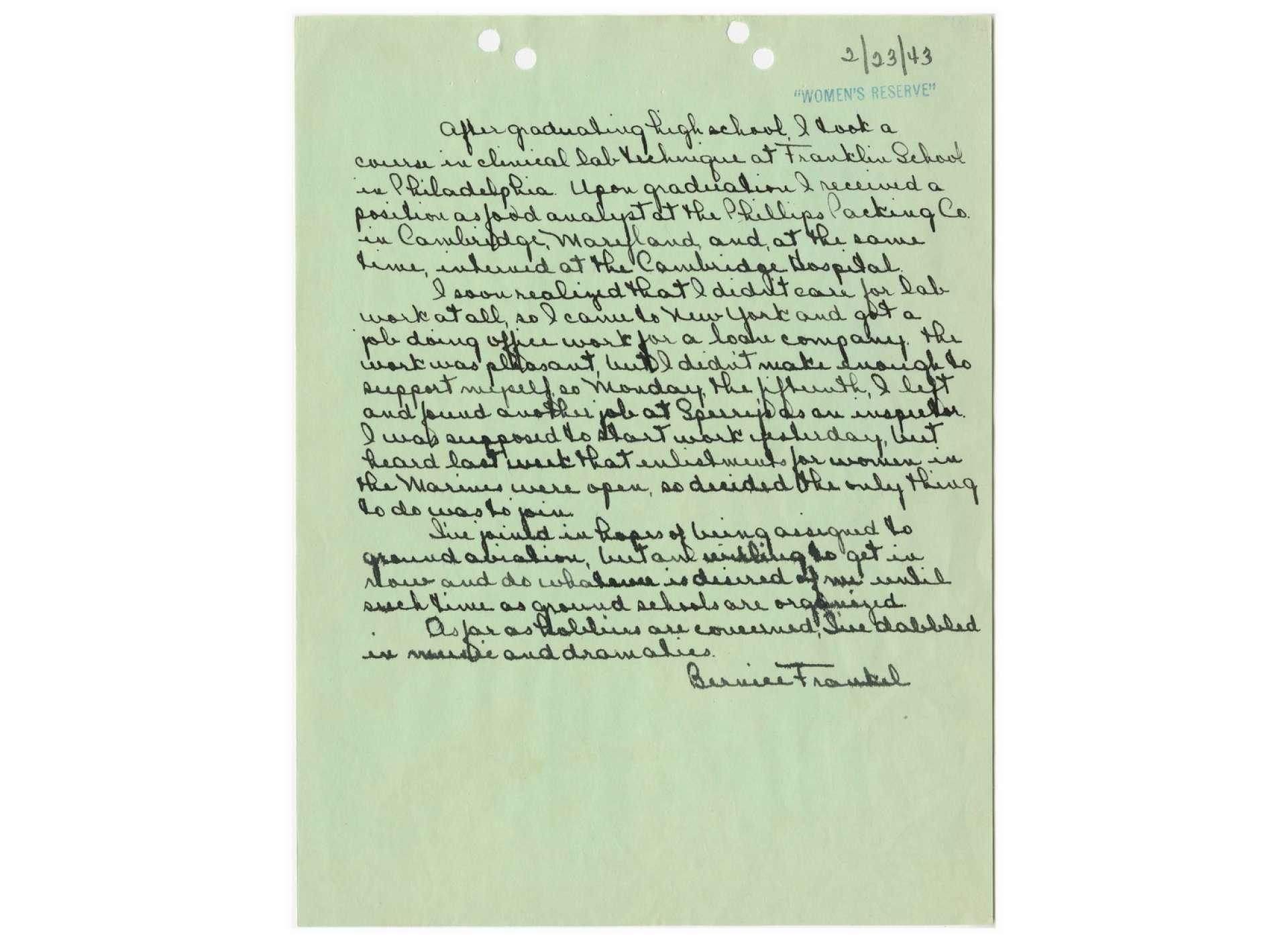 bea arthur letter