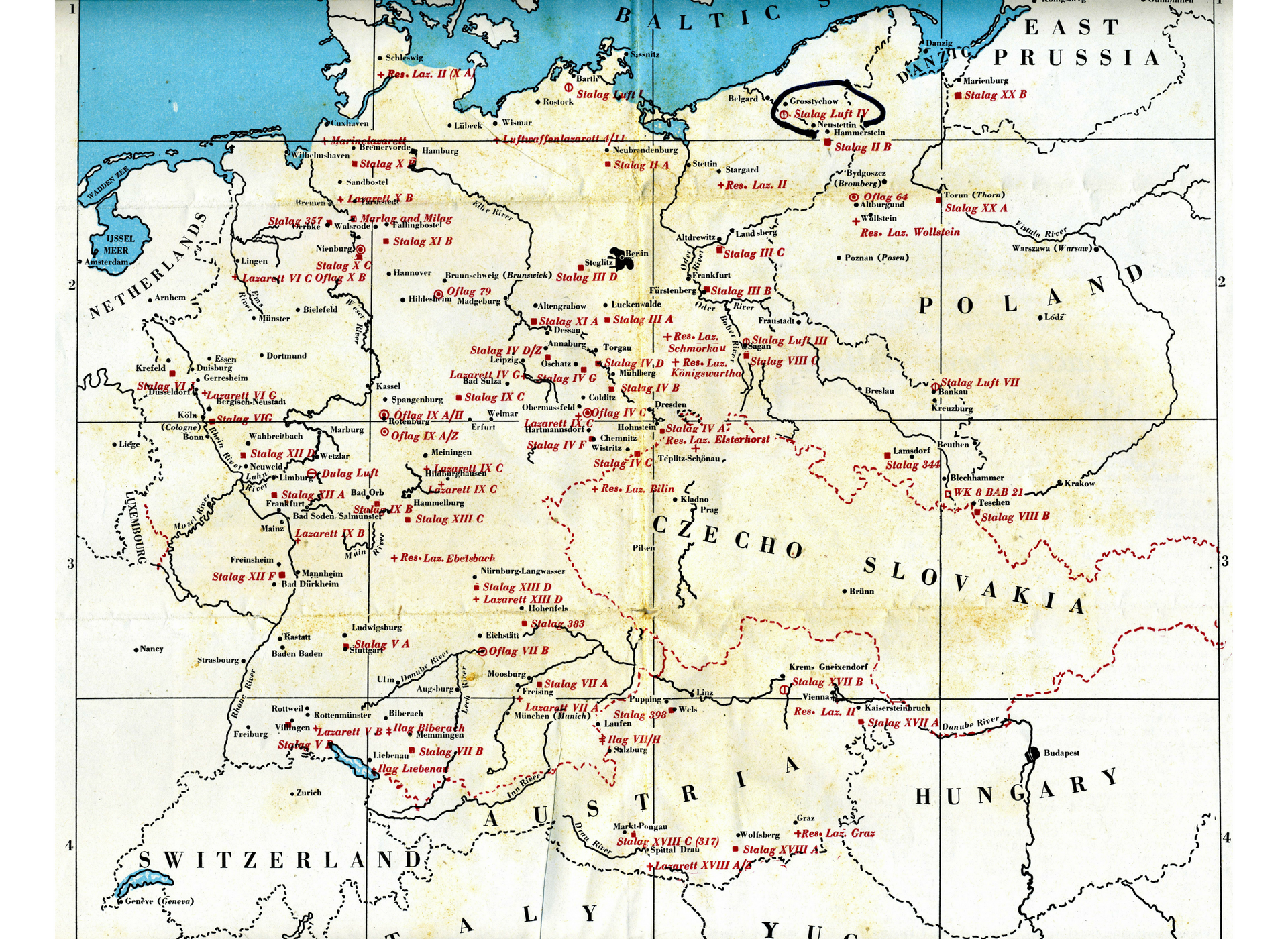 POWs camps in germany