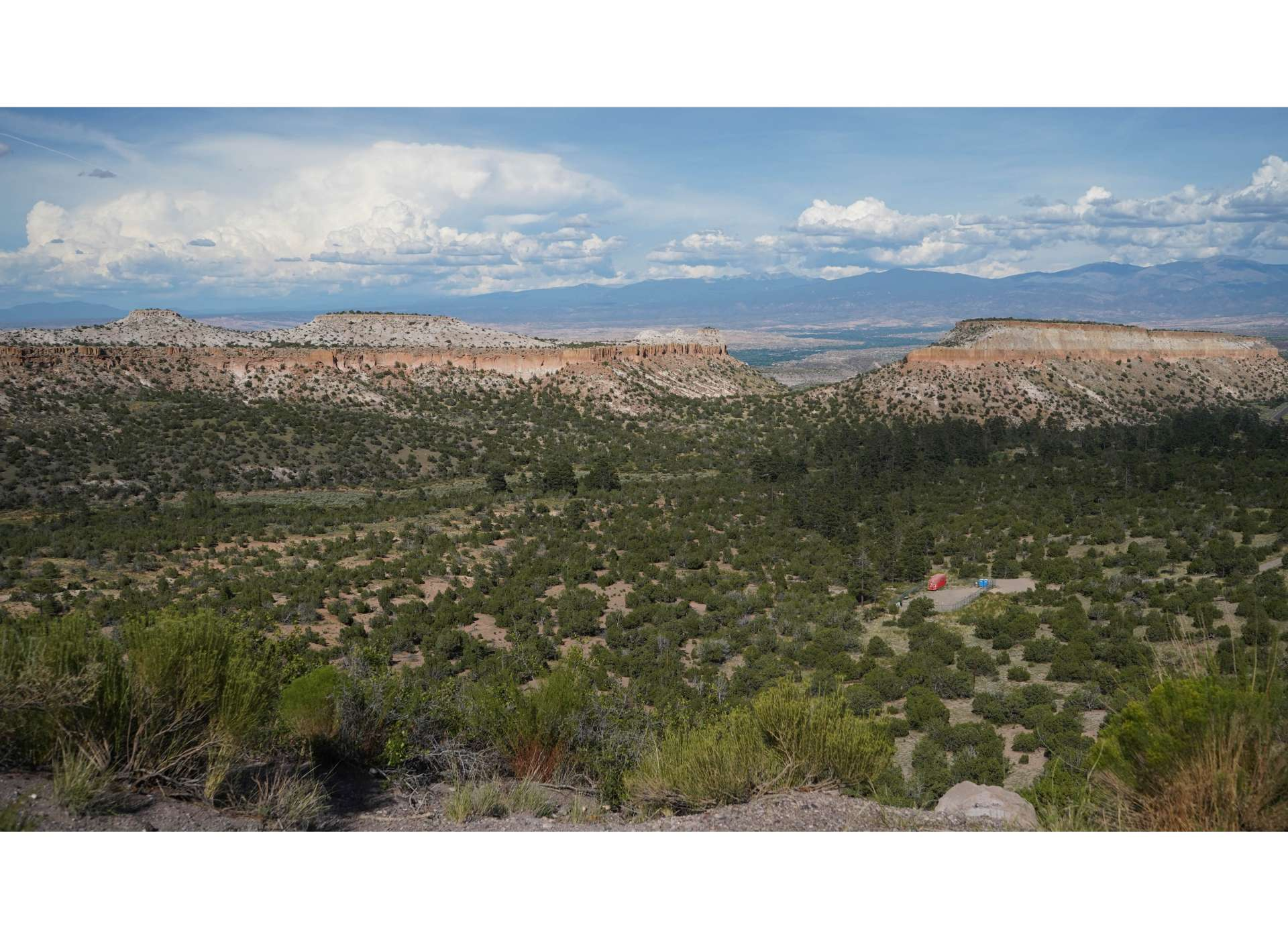 The beautiful natural landscape around Los Alamos.