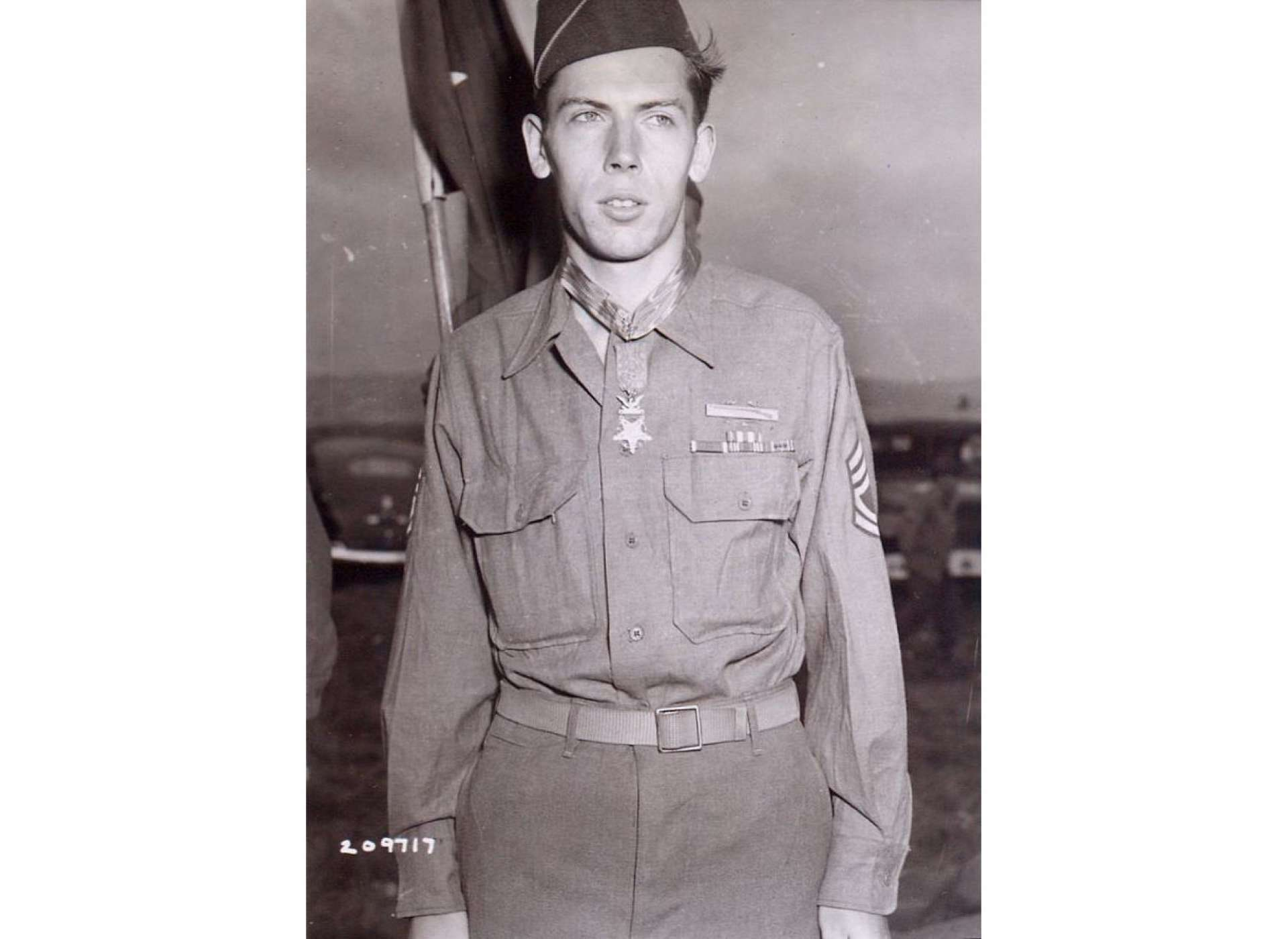 Sergeant Francis S. Currey, 3rd Battalion, 120th Infantry Regiment, 30th Infantry Division, Medal of Honor recipient.