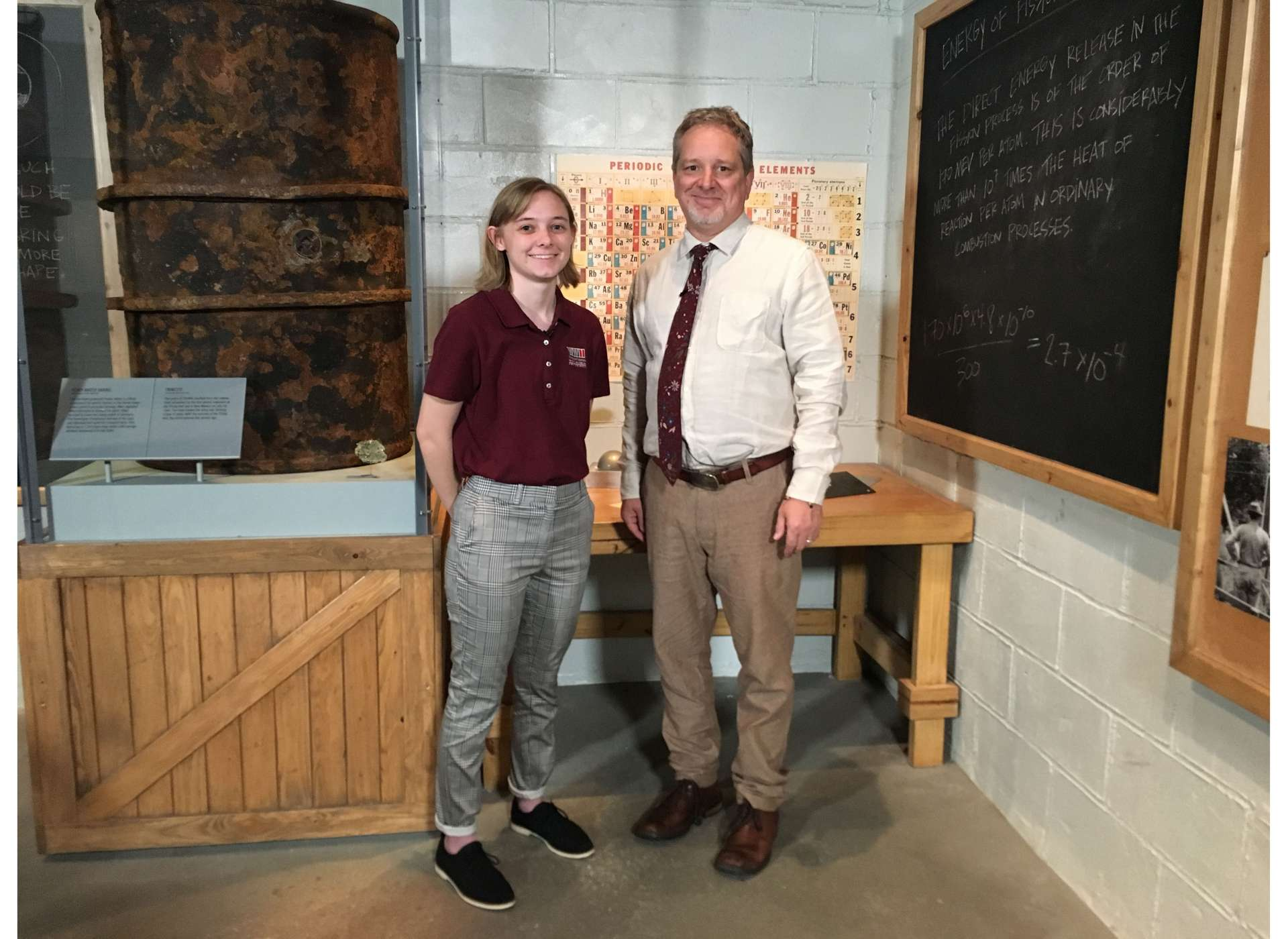 STEM specialist Rob Wallace reviews the early history of nuclear science with student reporter Julia.