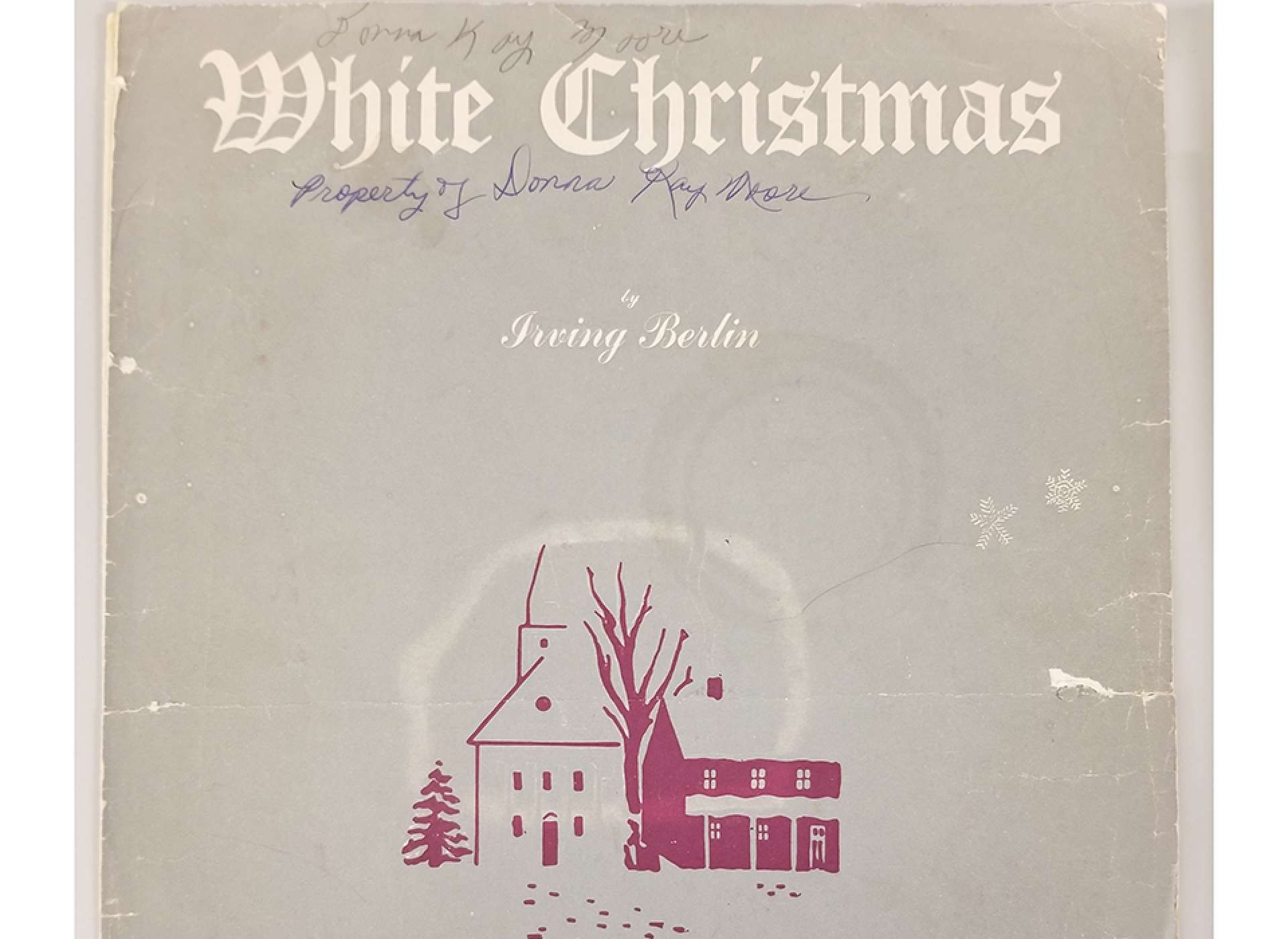 "Donna and Neal Moore purchased this copy of ""White Christmas"" at a local store before performing it at their church. It was the last time that Donna was able to spend time with Neal before his unit was shipped out."