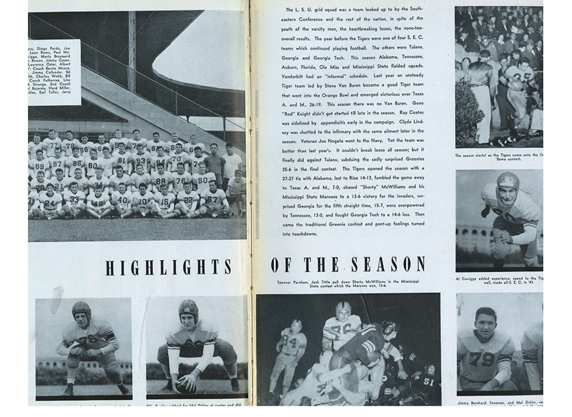 1944 LSU Tiger Football Season Highlights
