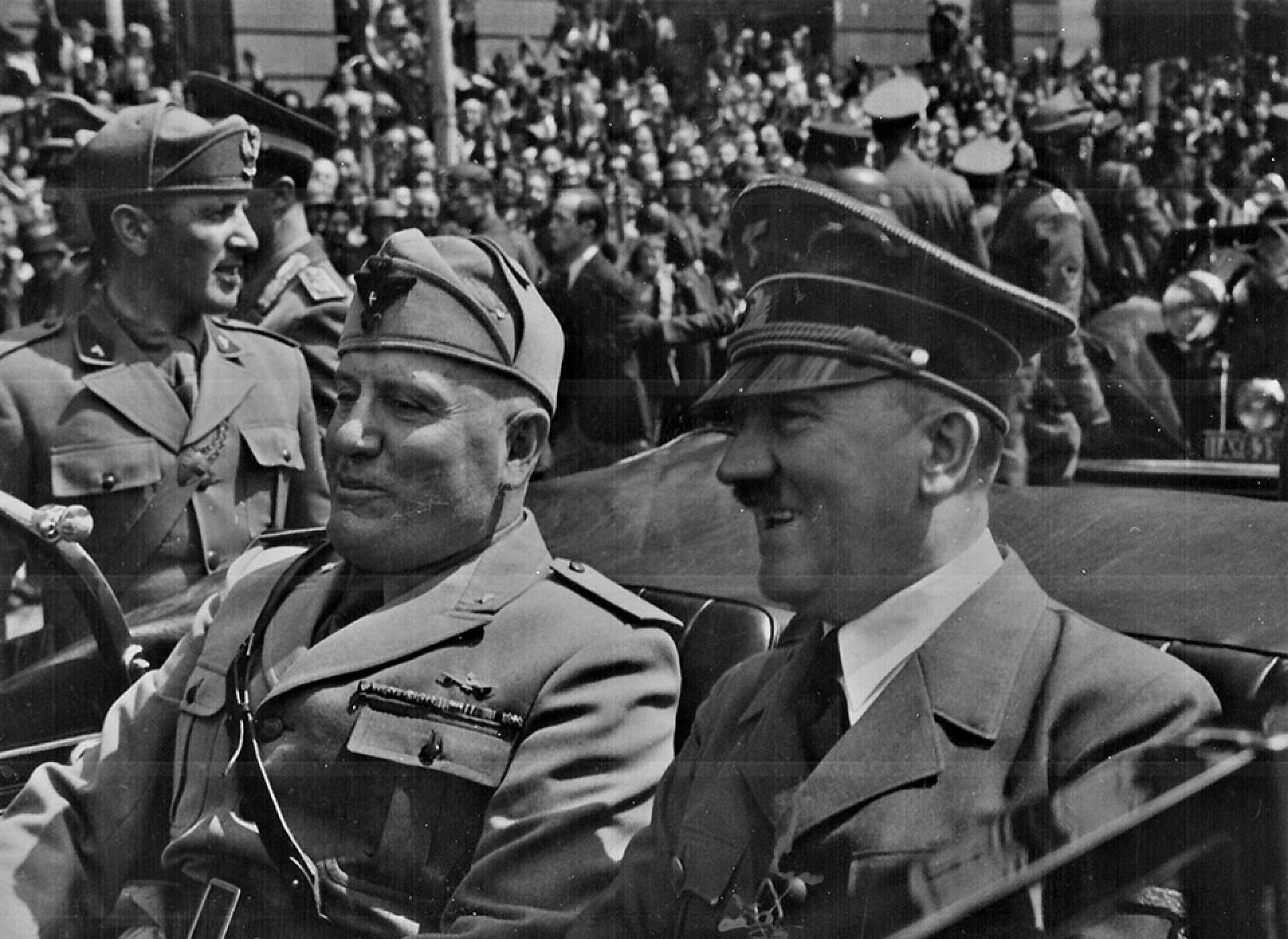 The Duce and the Führer.