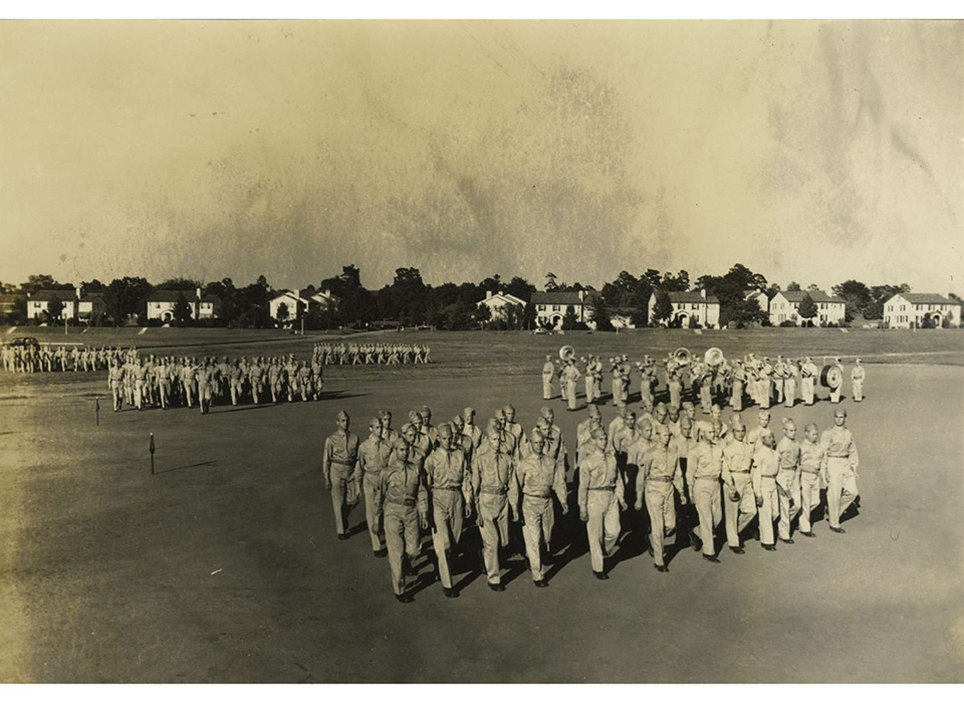 Although they would not be going into battle, the men of the 24th General Hospital underwent military training at Fort Benning, Georgia, in 1942-1943 to prepare to deploy. The National WWII Museum