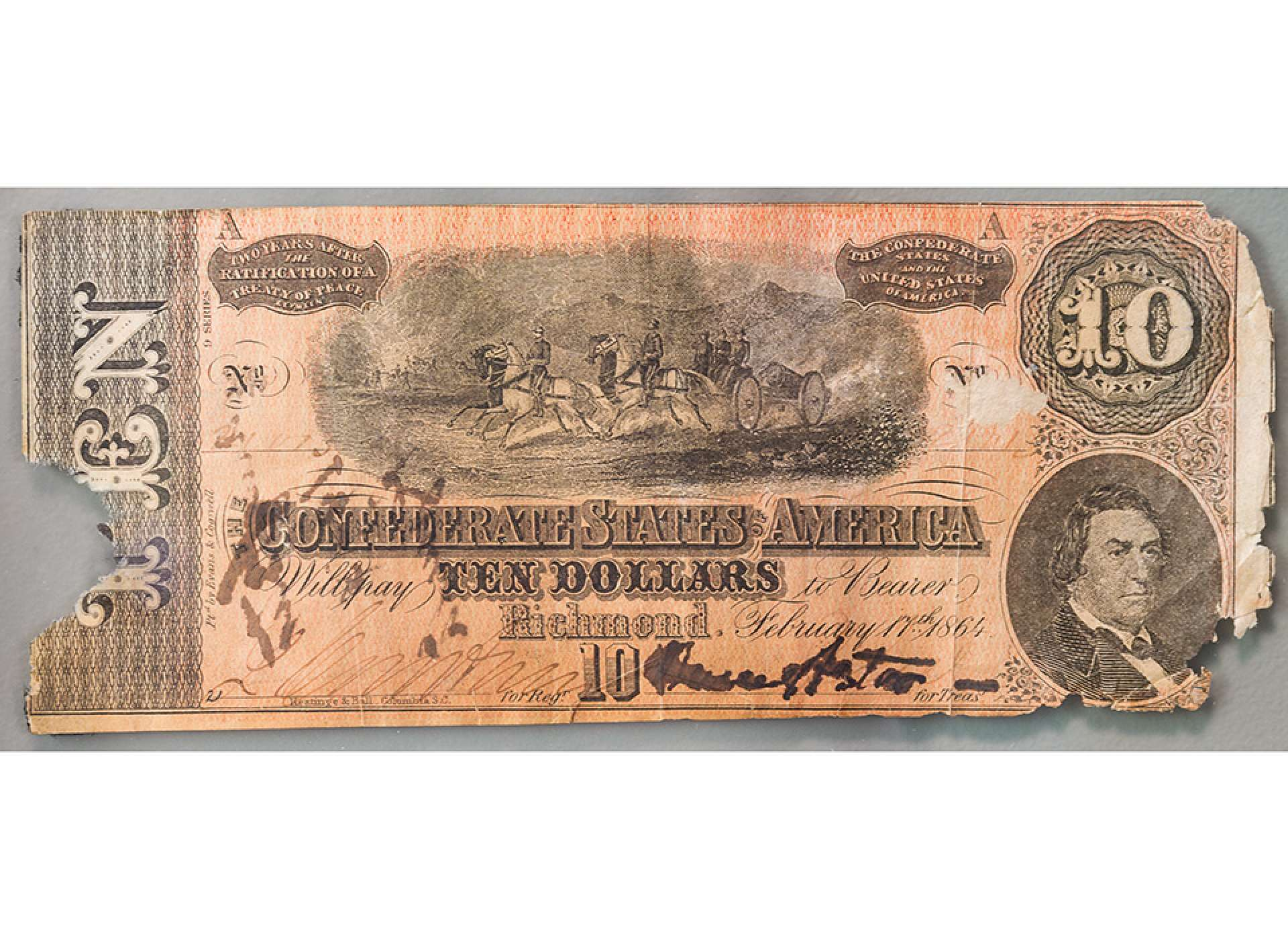 Confederate dollar bill
