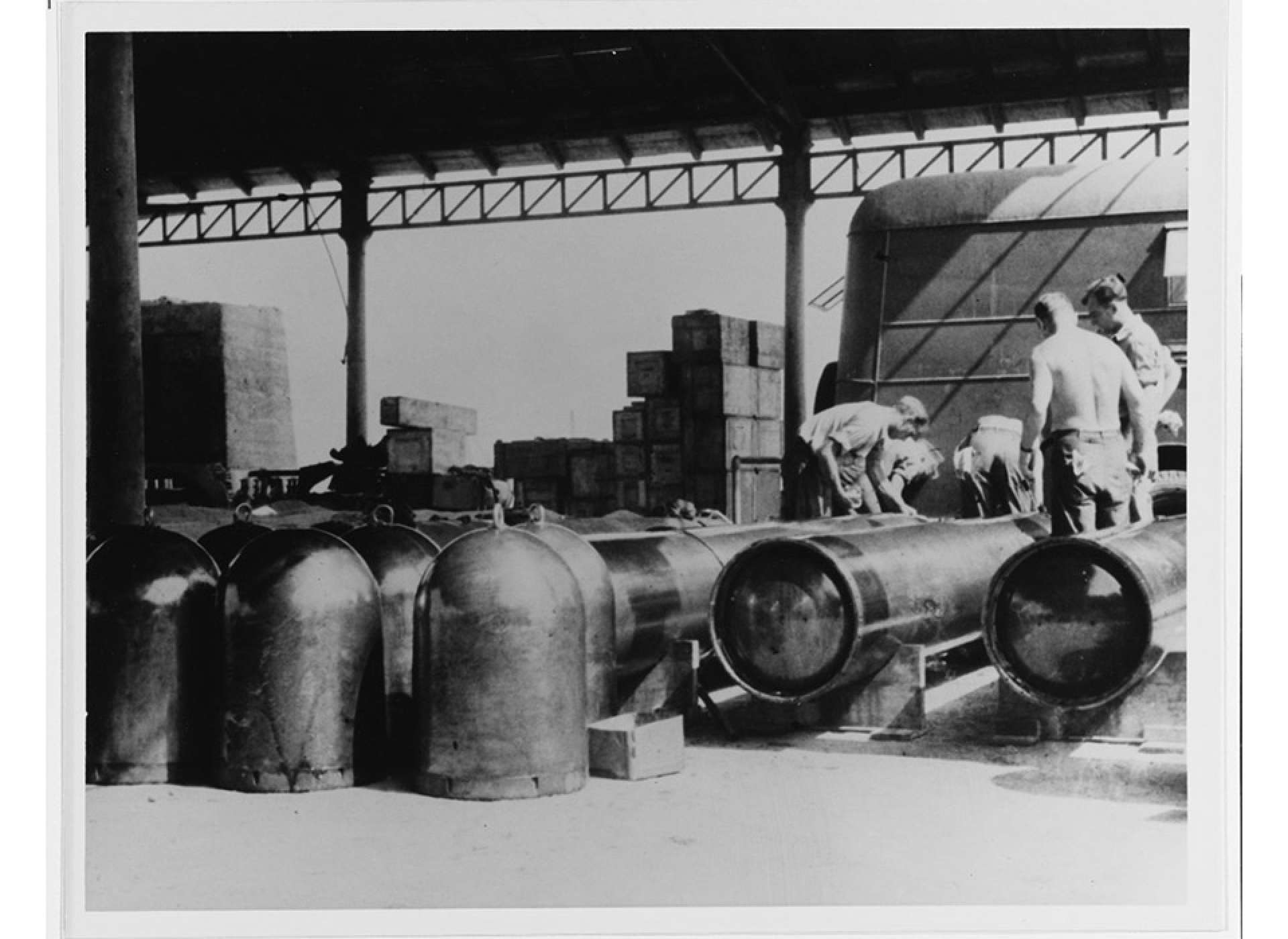 PT boats fired two types of torpedoes, Mark 8s from tubes, or Mark 13s from roll off racks.