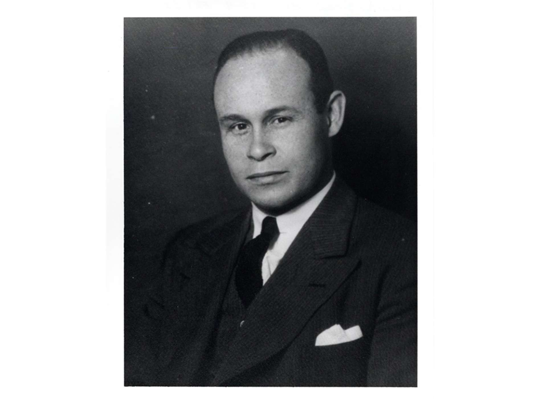 A portrait of Charles Drew in 1949; Howard University, Charles R. Drew Papers.