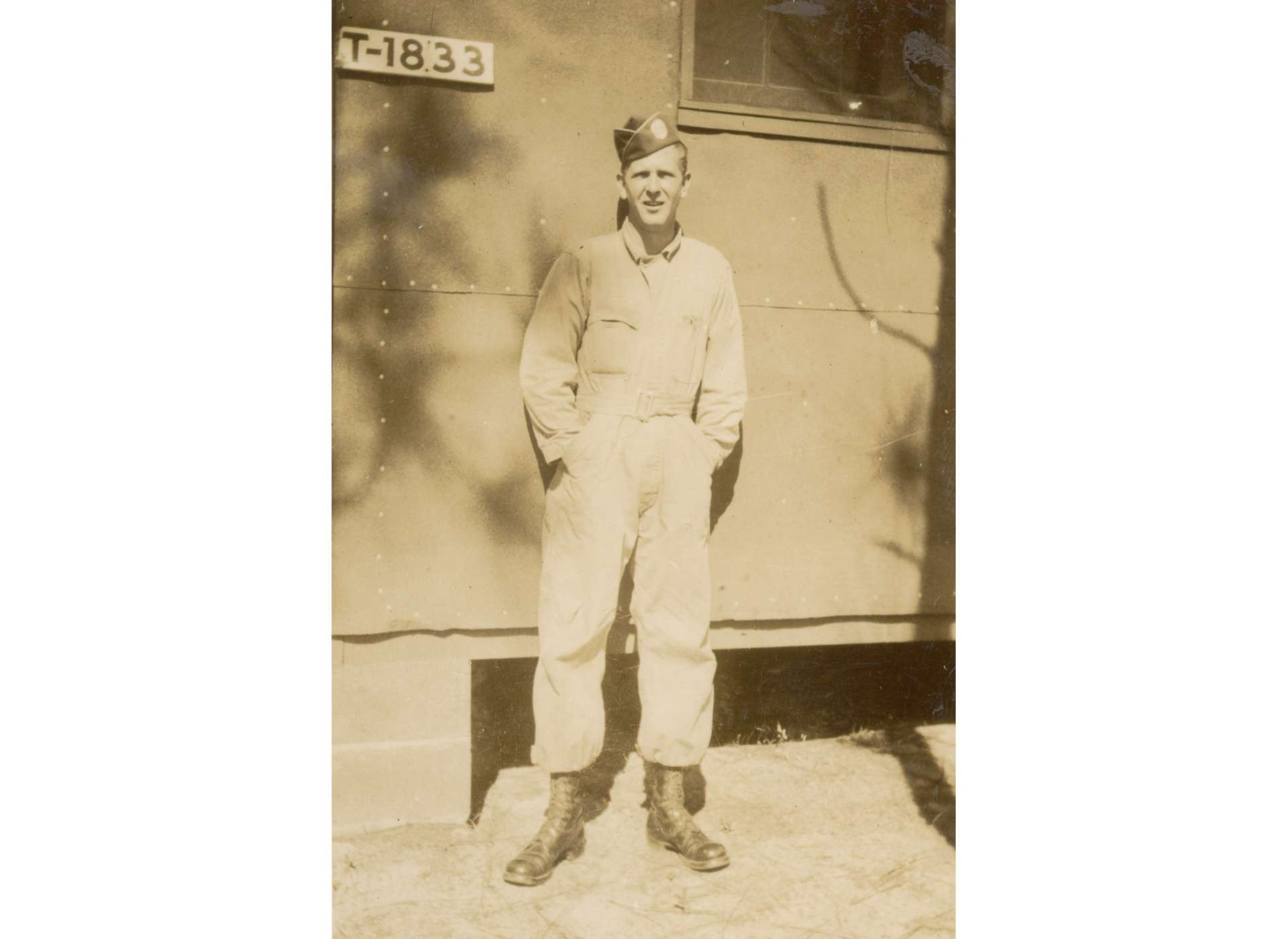 Blakey at Camp Mackall, North Caroline in 1943. Image courtesy of the National Archives, from the collection of The National WWII Museum.