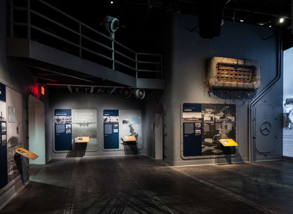 New Naval Warfare gallery, information panels, Road to Tokyo