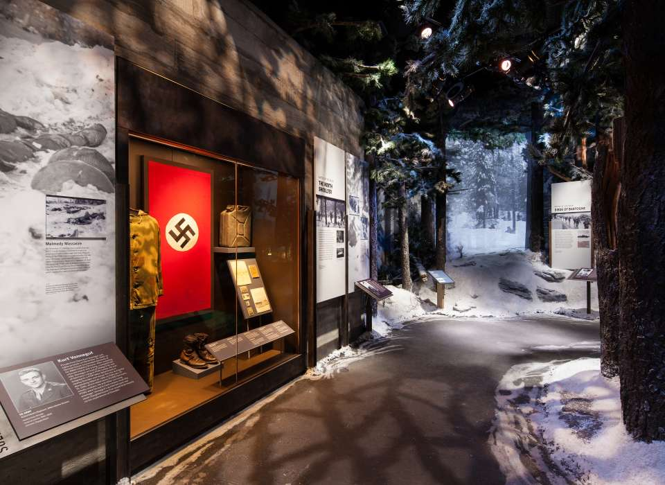 Battle of the Bulge Gallery, Nazi flag, Road to Berlin