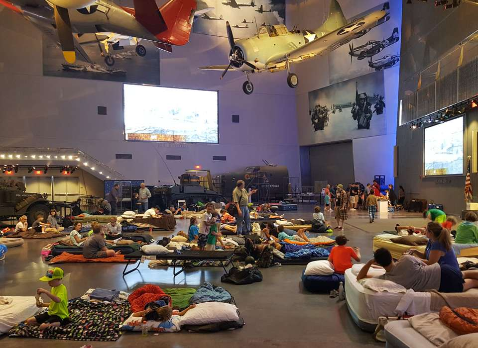Family overnight at The National WWII Museum