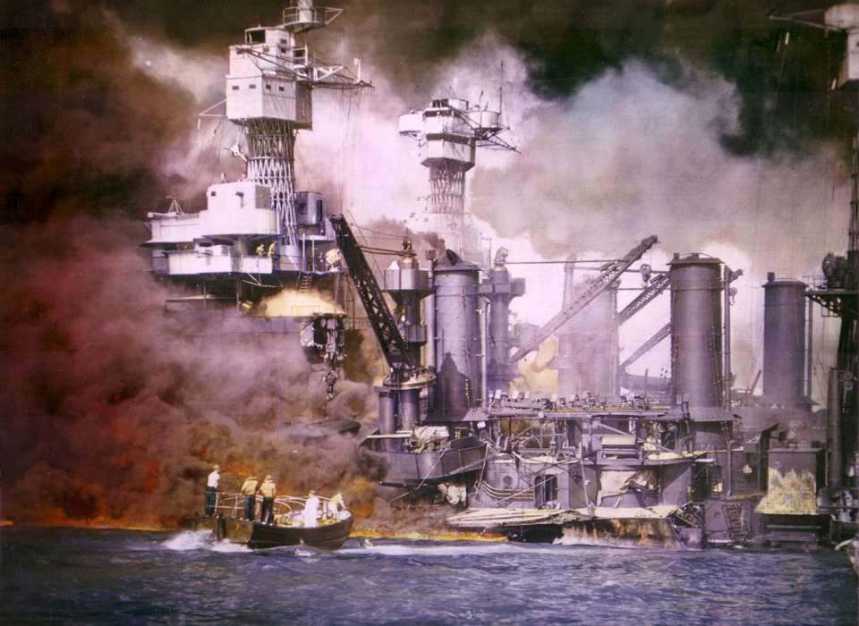 Infamy traveling exhibit, Pearl Harbor color image